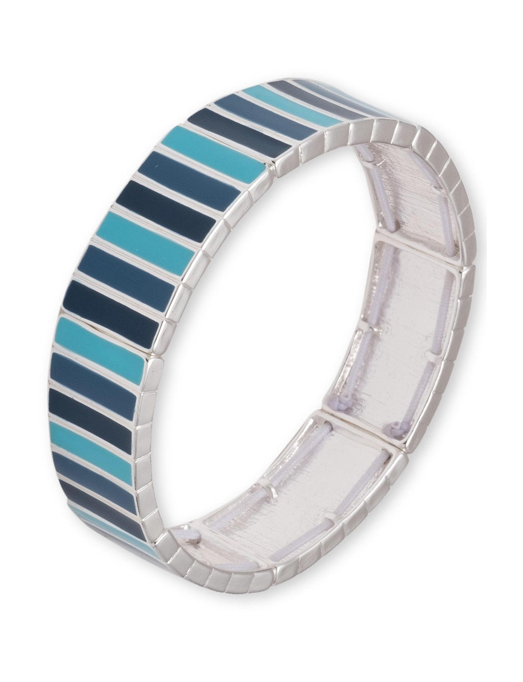 Chaps Blue / Silver Bracelets Fashion Jewelry