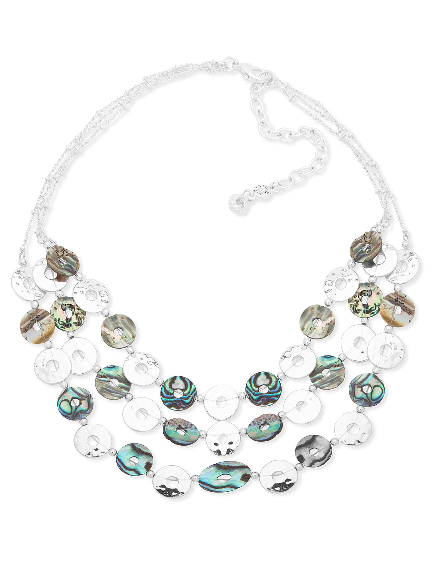Chaps Silver / Abalone Necklaces & Pendants Fashion Jewelry