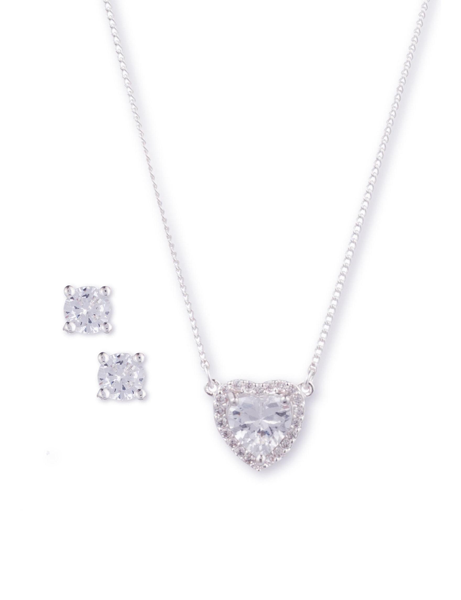 Nine West Silver / Crystal Jewelry Sets Fashion Jewelry