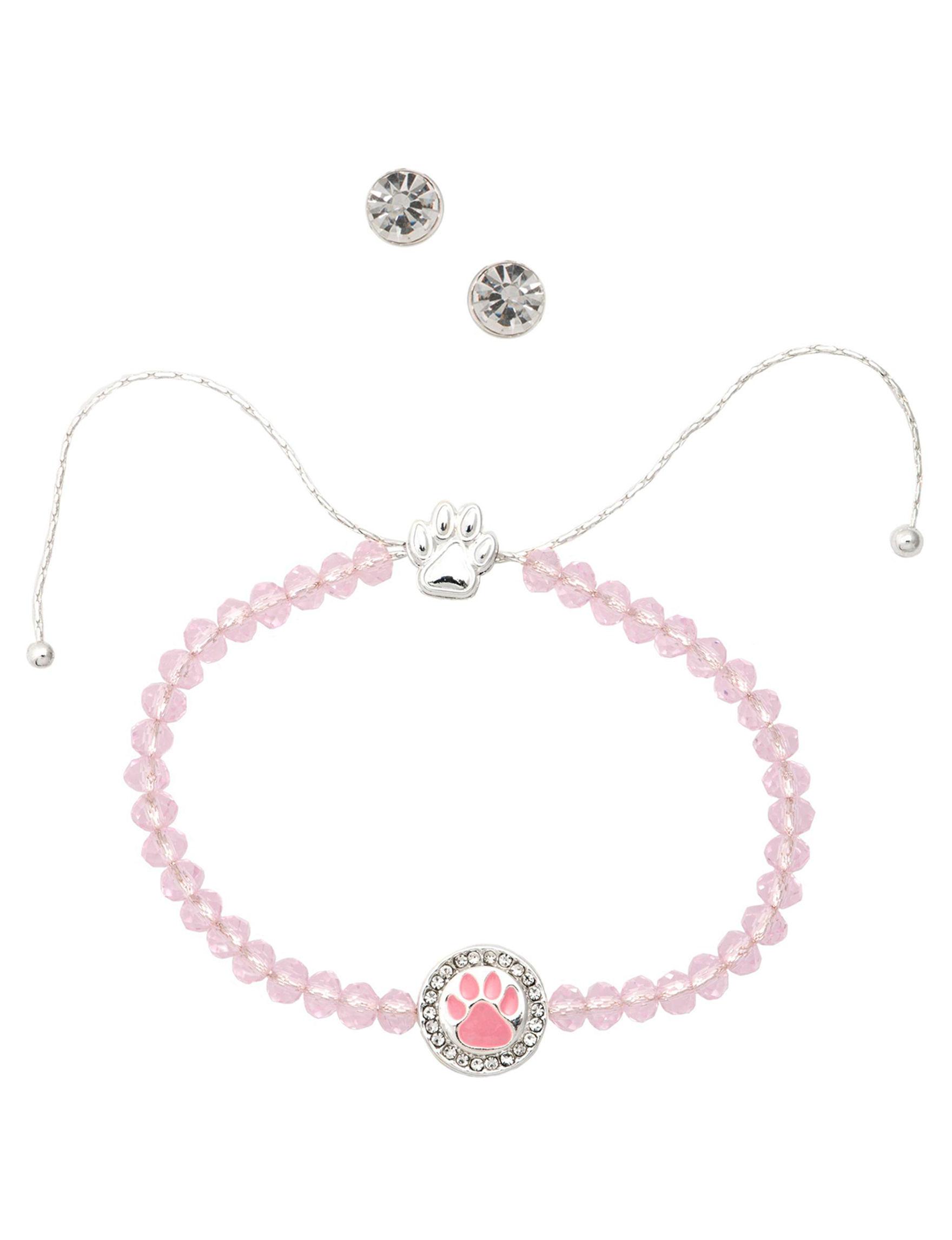 Pet Friends Silver / Pink Jewelry Sets Fashion Jewelry