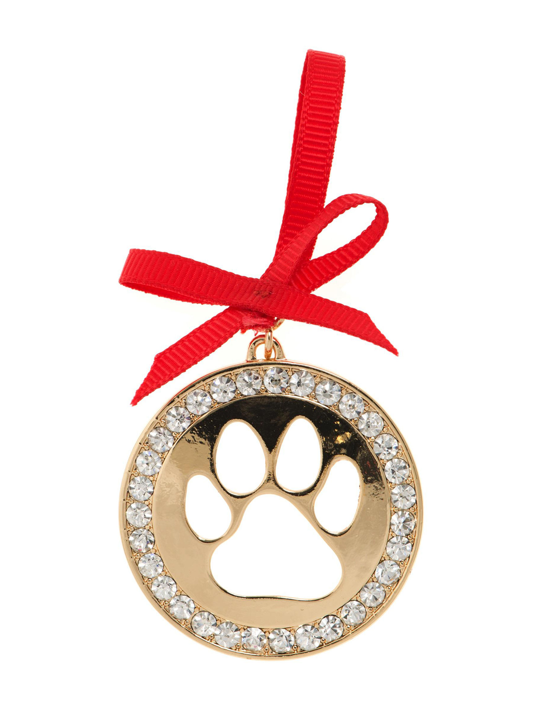 Pet Friends Gold / Crystal Pins Fashion Jewelry
