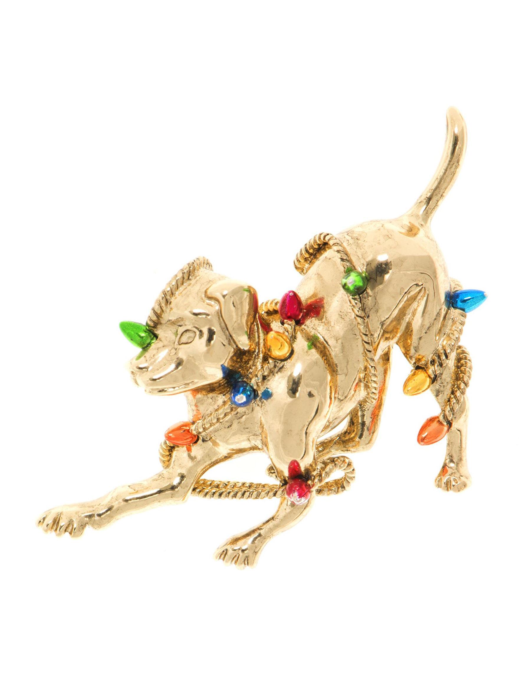 Pet Friends Gold / Multi Pins Fashion Jewelry