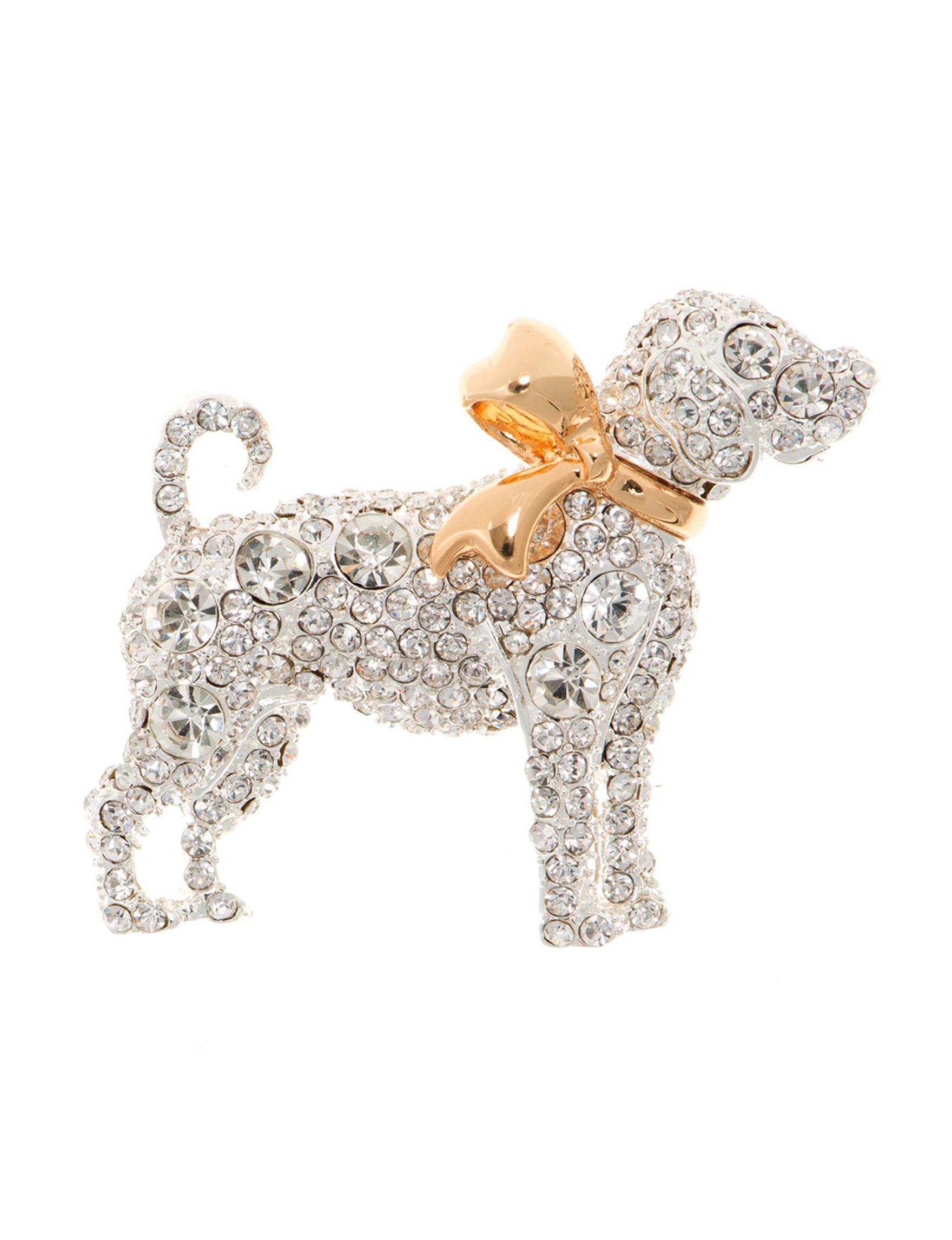 Pet Friends Silver / Gold Pins Fashion Jewelry