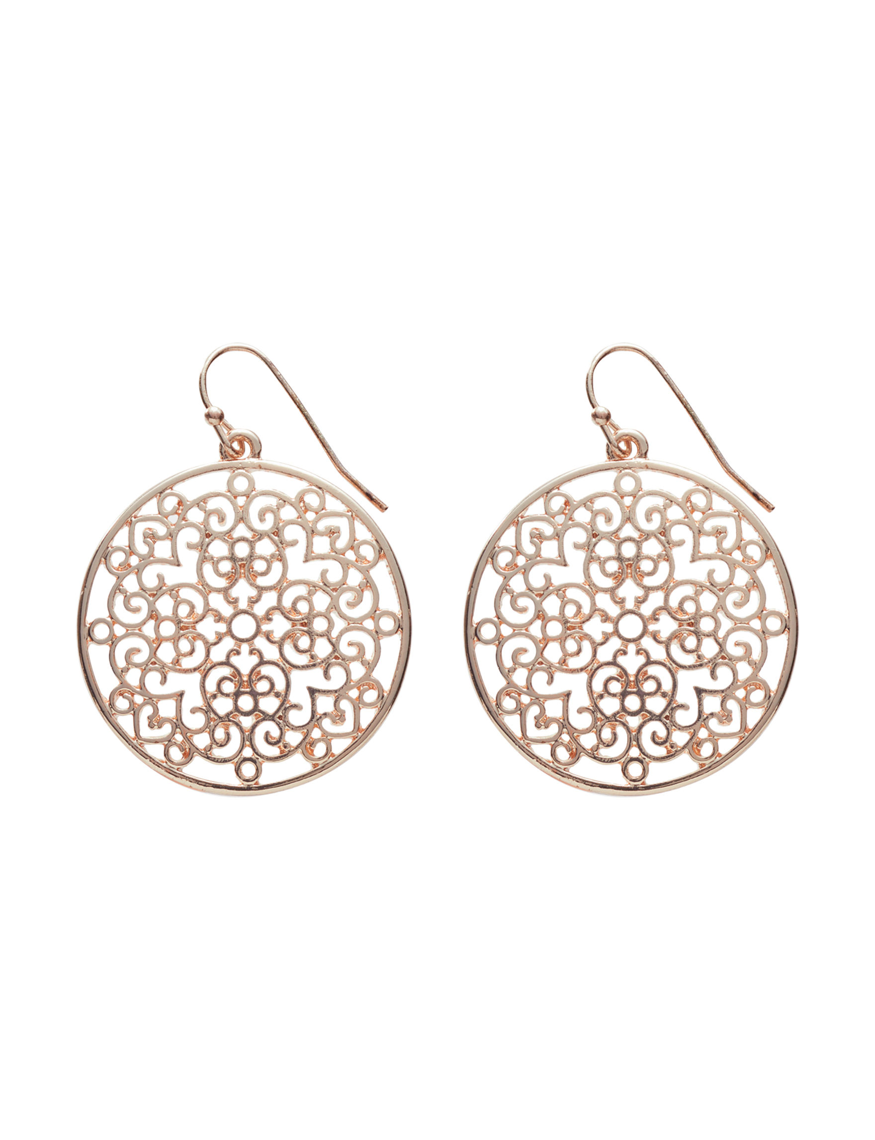 Hannah Rose Gold Drops Earrings Fashion Jewelry