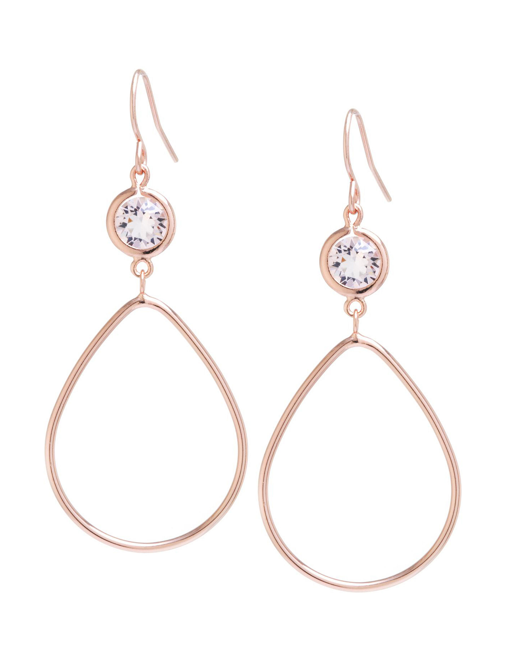 Athra Rose Gold Drops Earrings Fine Jewelry