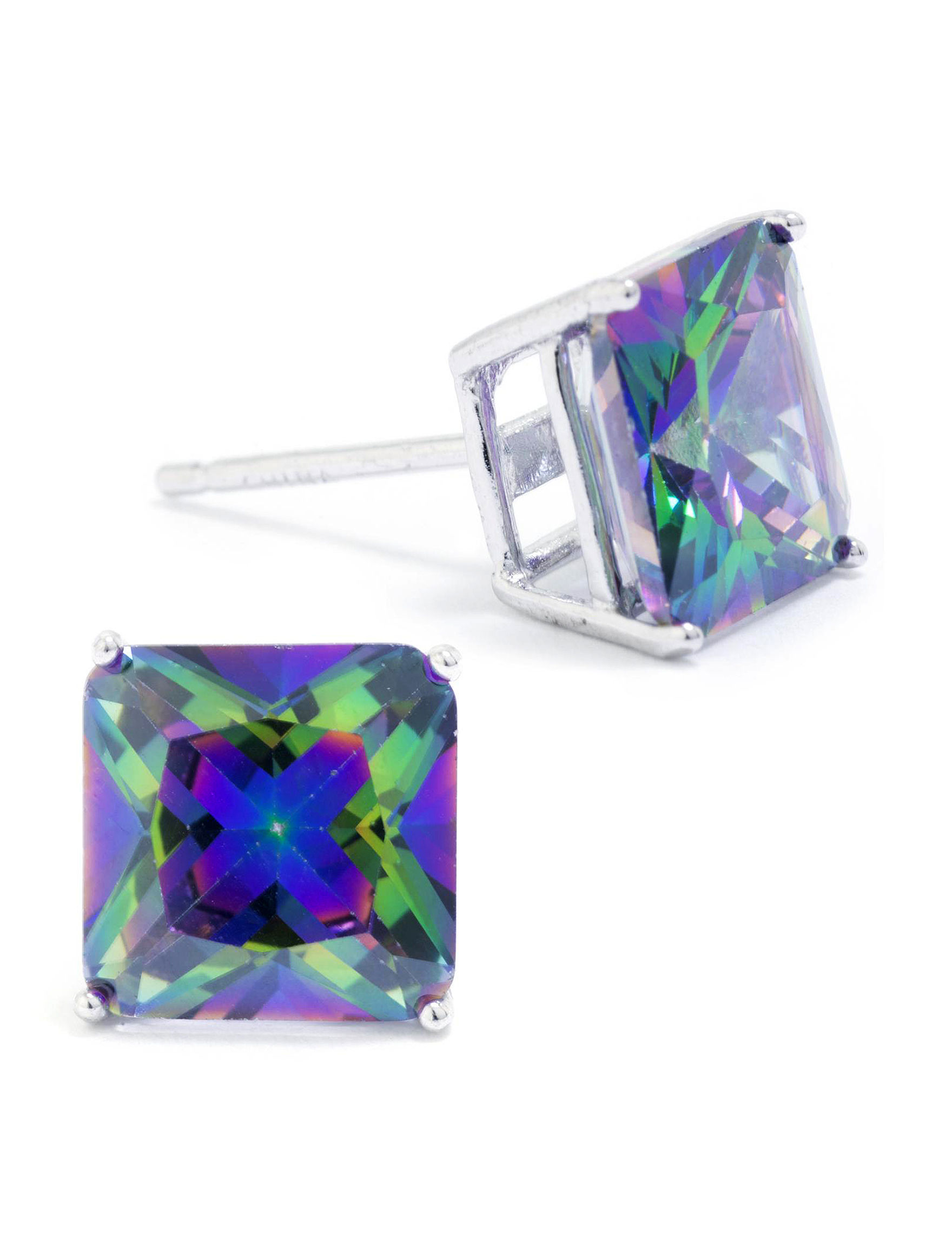 Athra Sterling Silver Studs Earrings Fine Jewelry