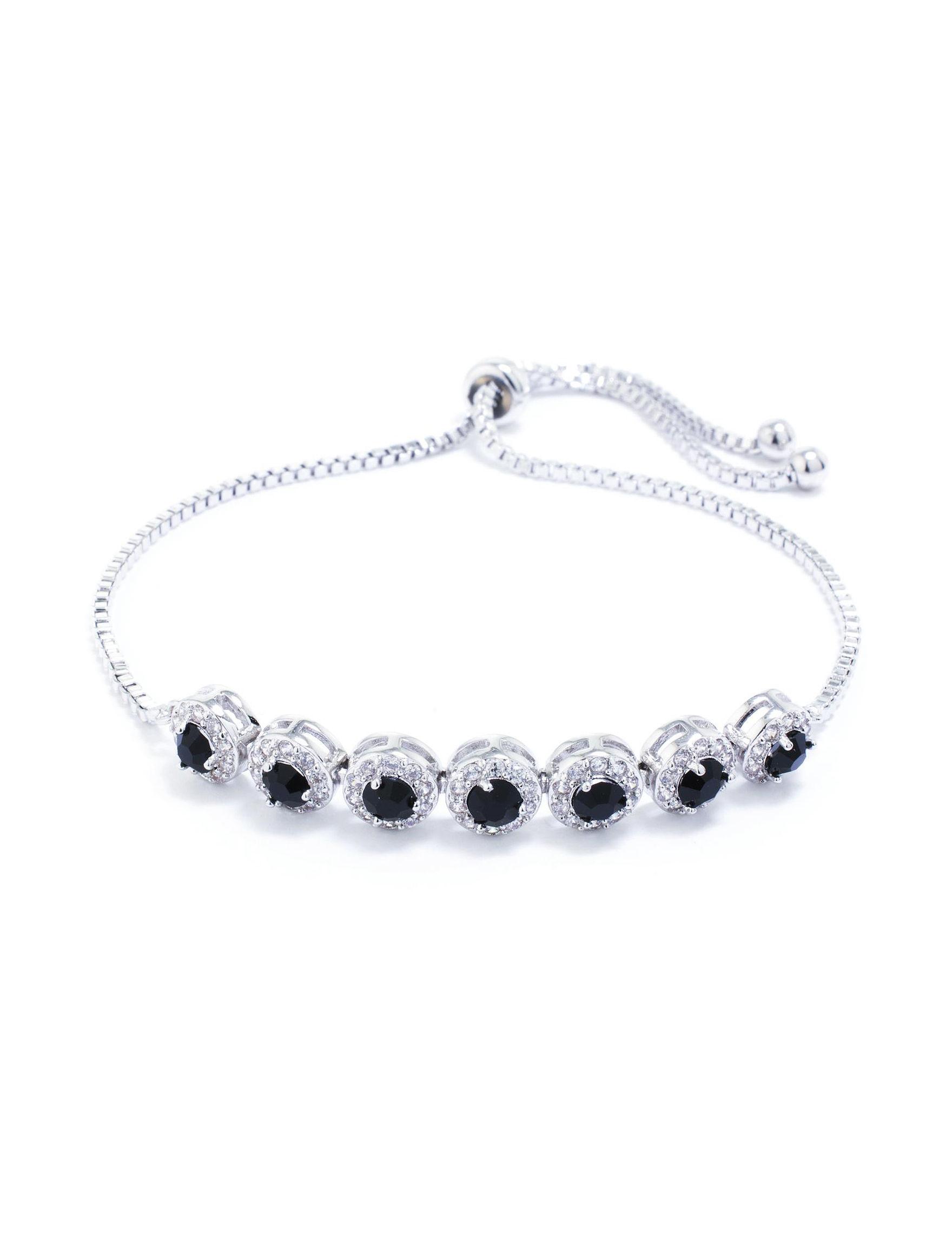 Athra Silver / Black Bracelets Fine Jewelry