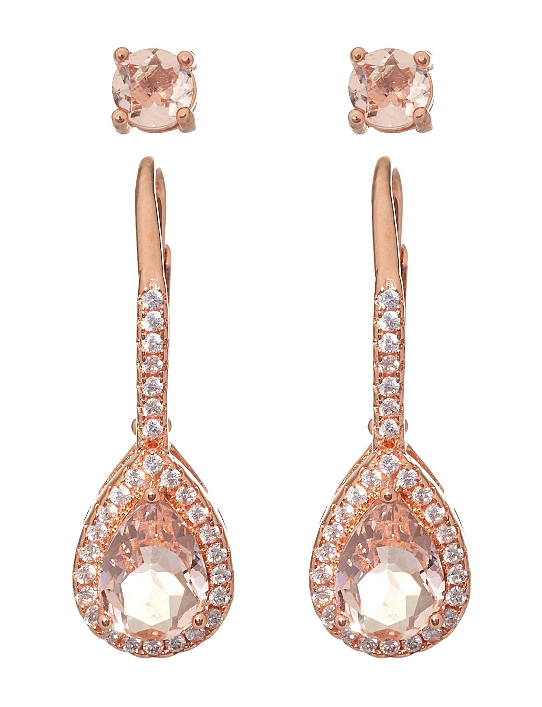 NES Rose Gold Drops Studs Earrings Fine Jewelry