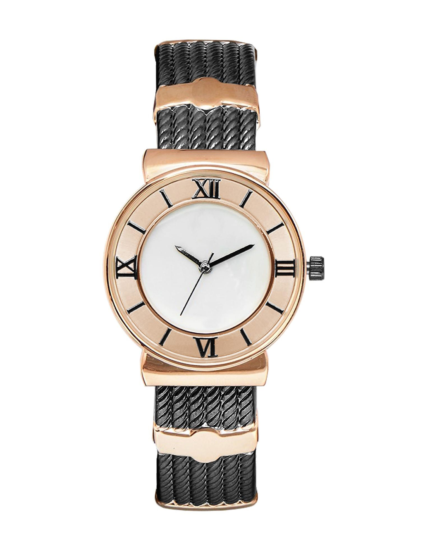 Global Time Rose Gold / Black Fashion Watches