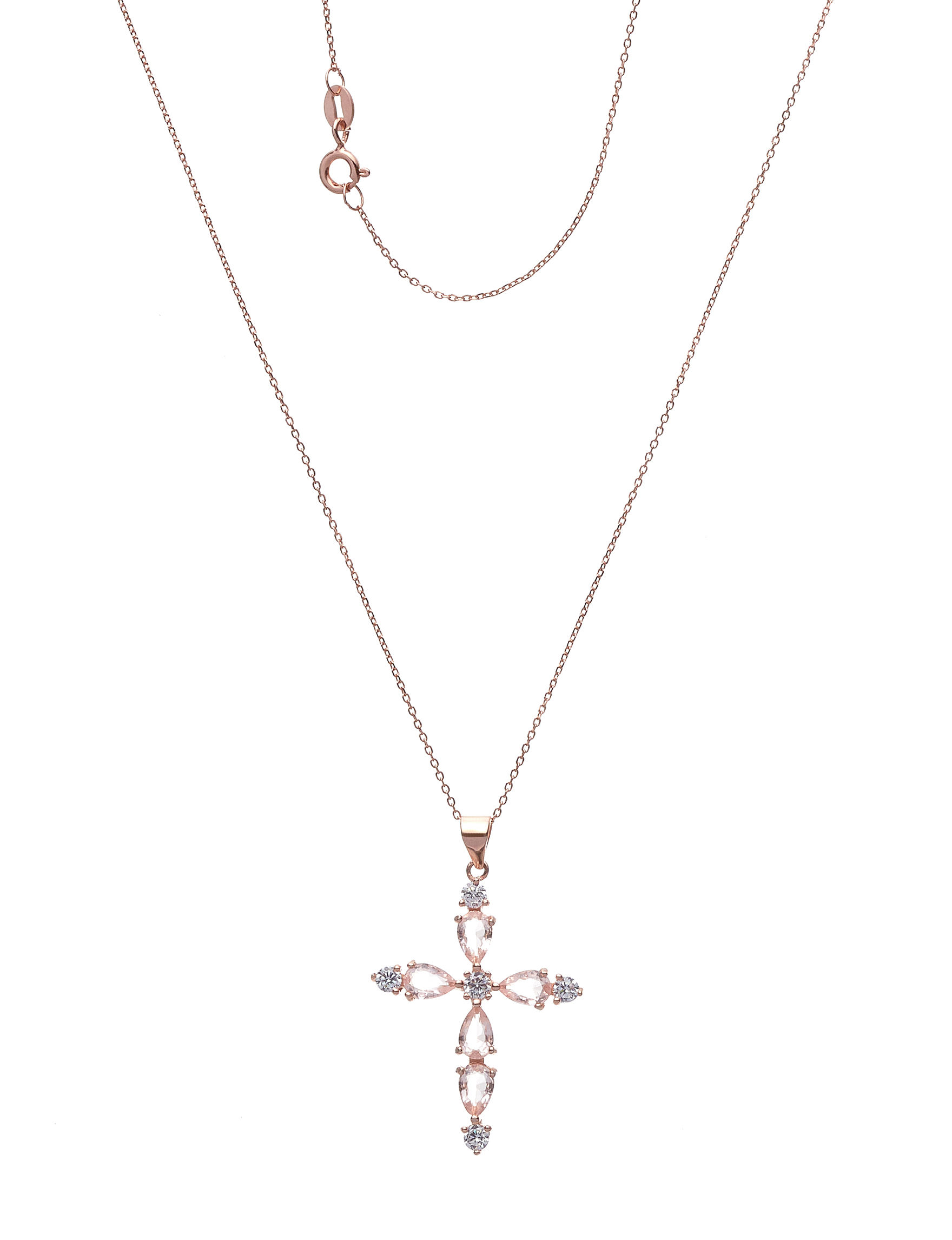NES Rose Gold / Crystal Necklaces & Pendants Fine Jewelry