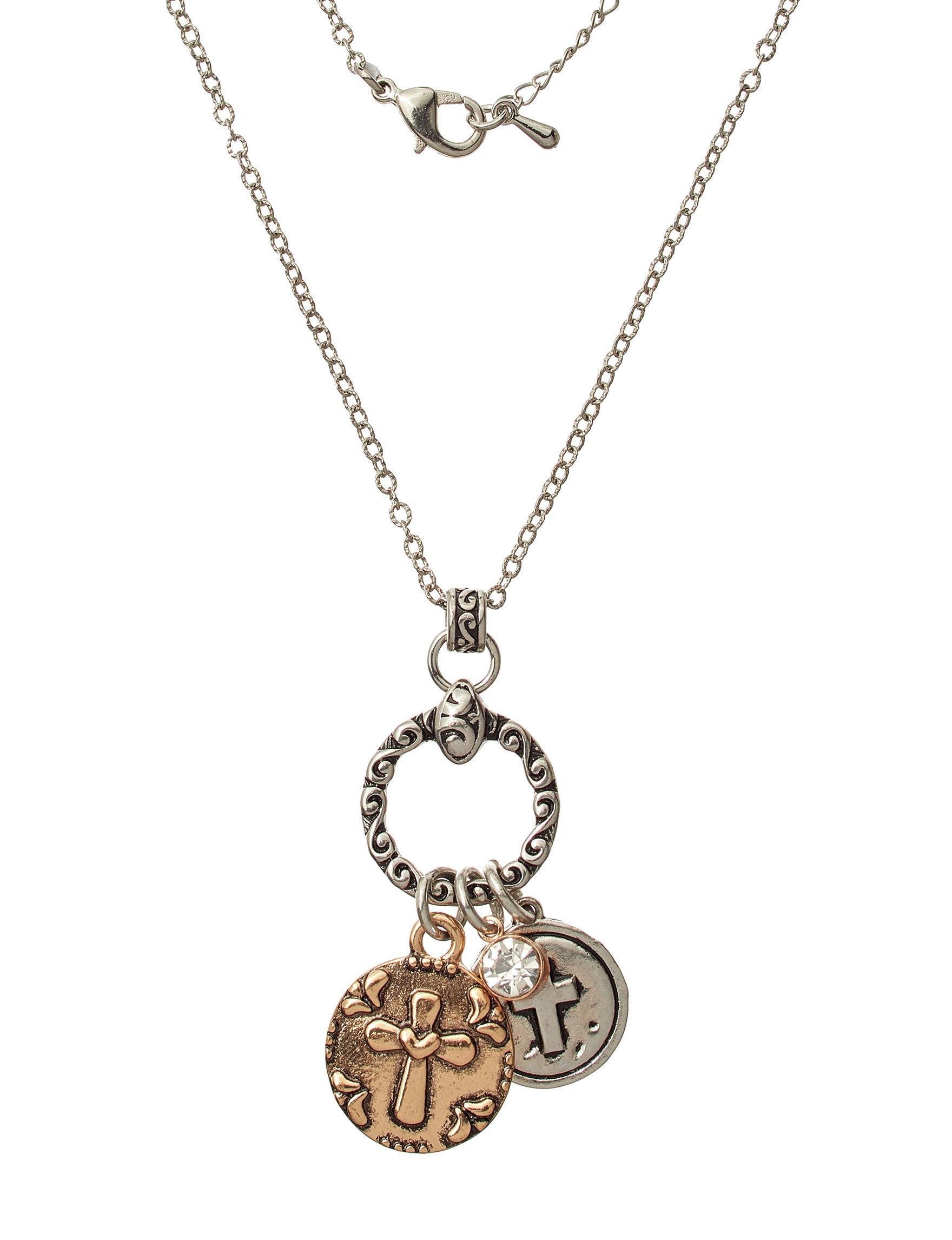 NES Silver / Brown Necklaces & Pendants Fine Jewelry
