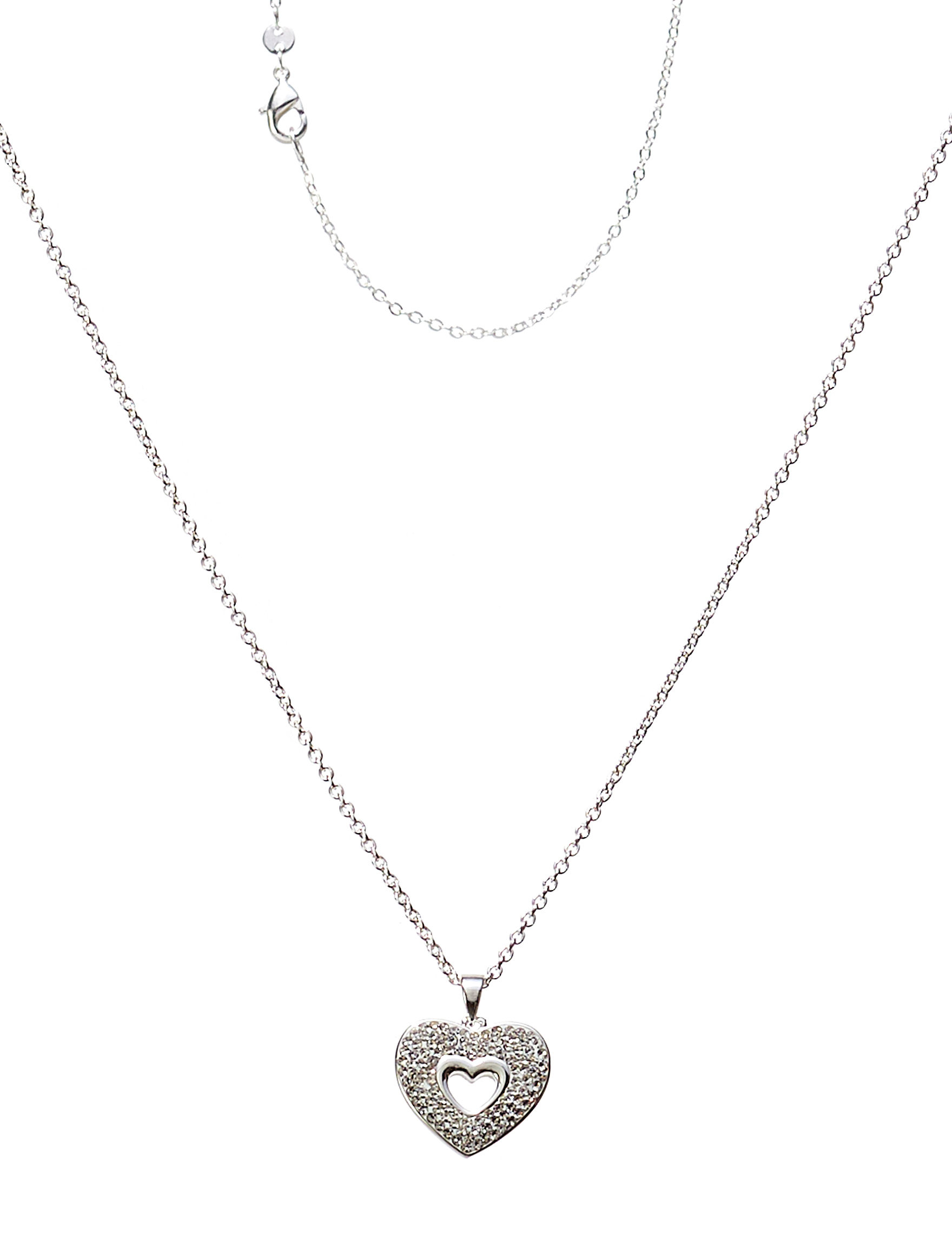 Marsala Fine Silver Plated Necklaces & Pendants Fine Jewelry