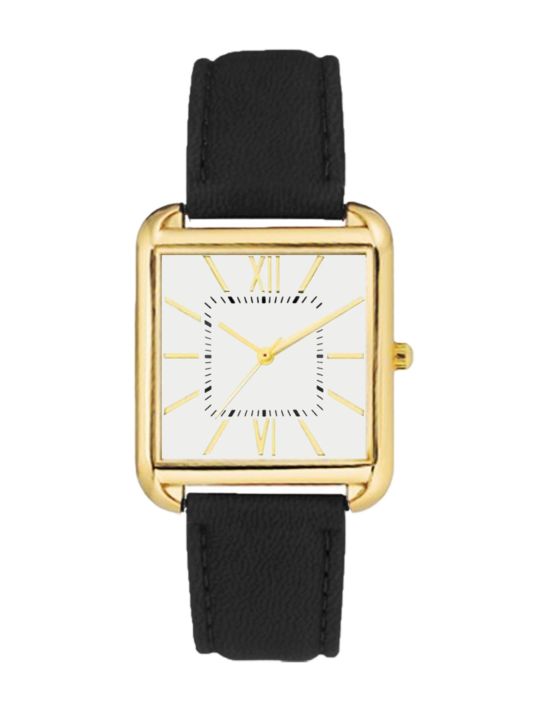 Global Time Gold / Black Fashion Watches
