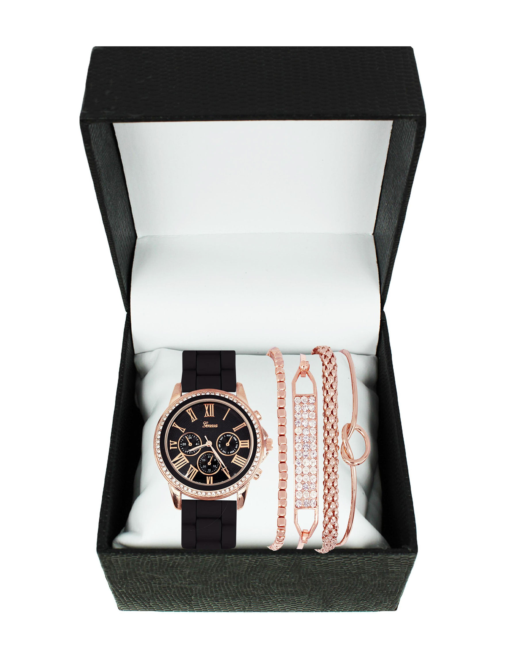 Global Time Pink / Black Fashion Watches