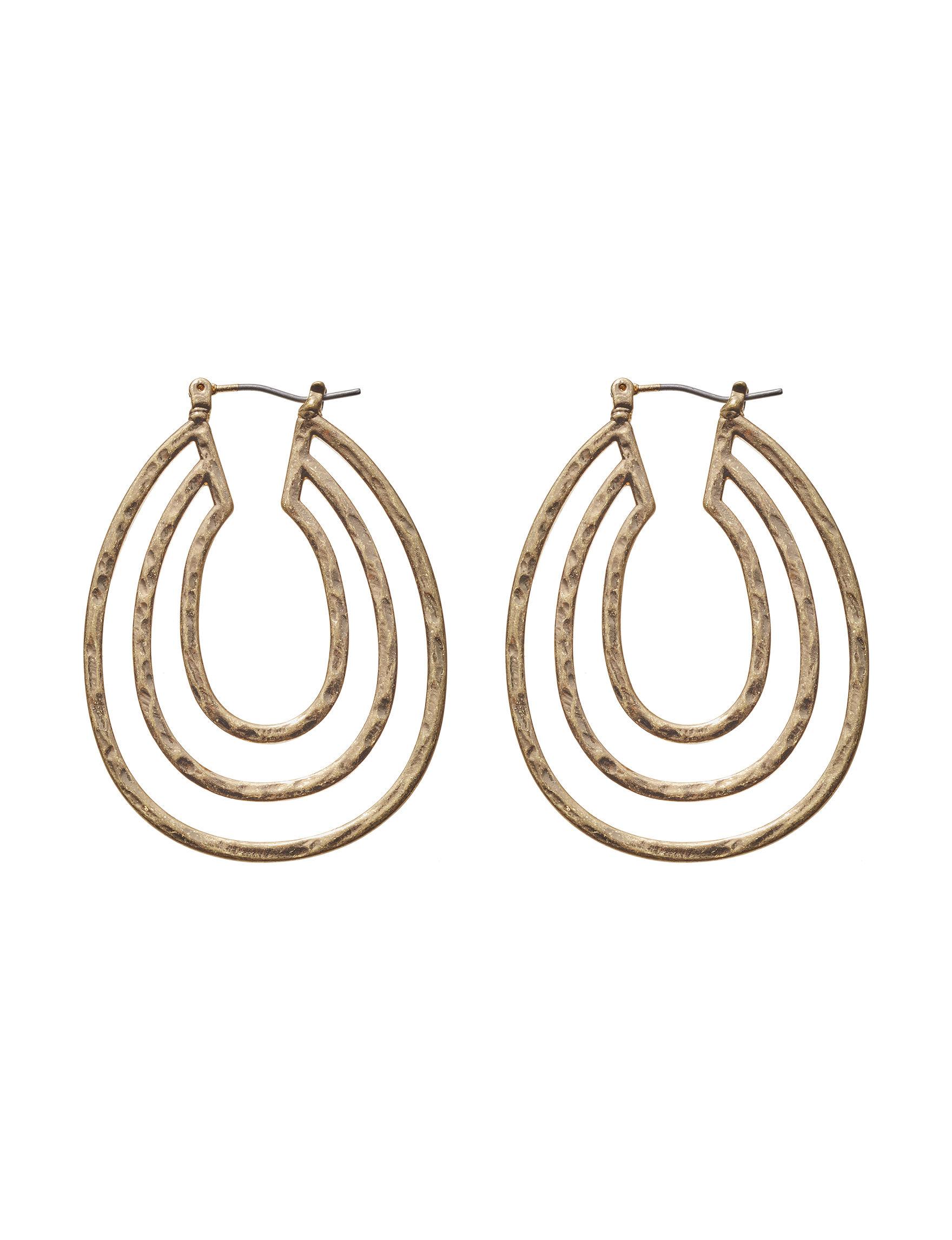 Blank Canvas Gold Drops Earrings Fashion Jewelry