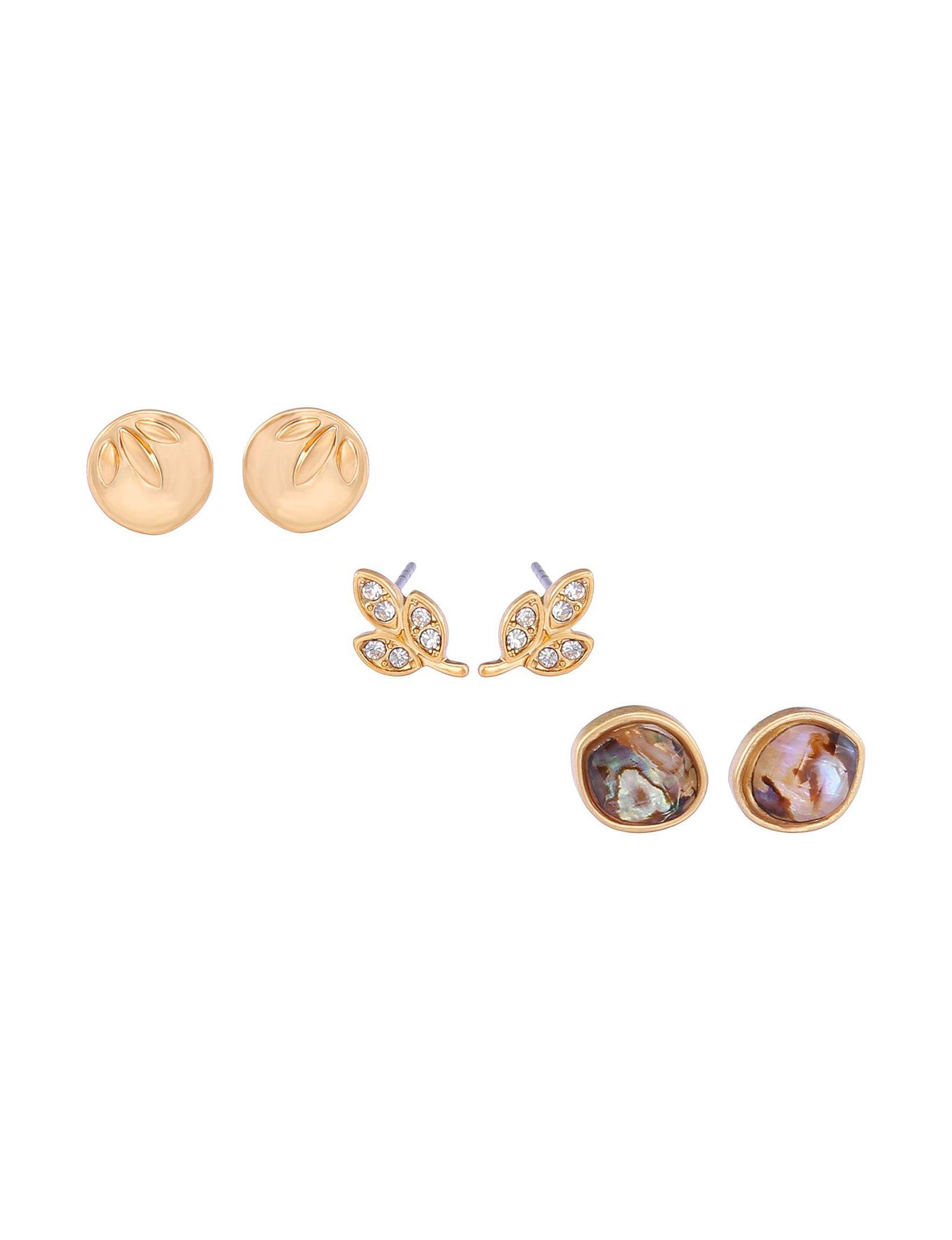 Chaps Gold / Multi Studs Earrings Fashion Jewelry