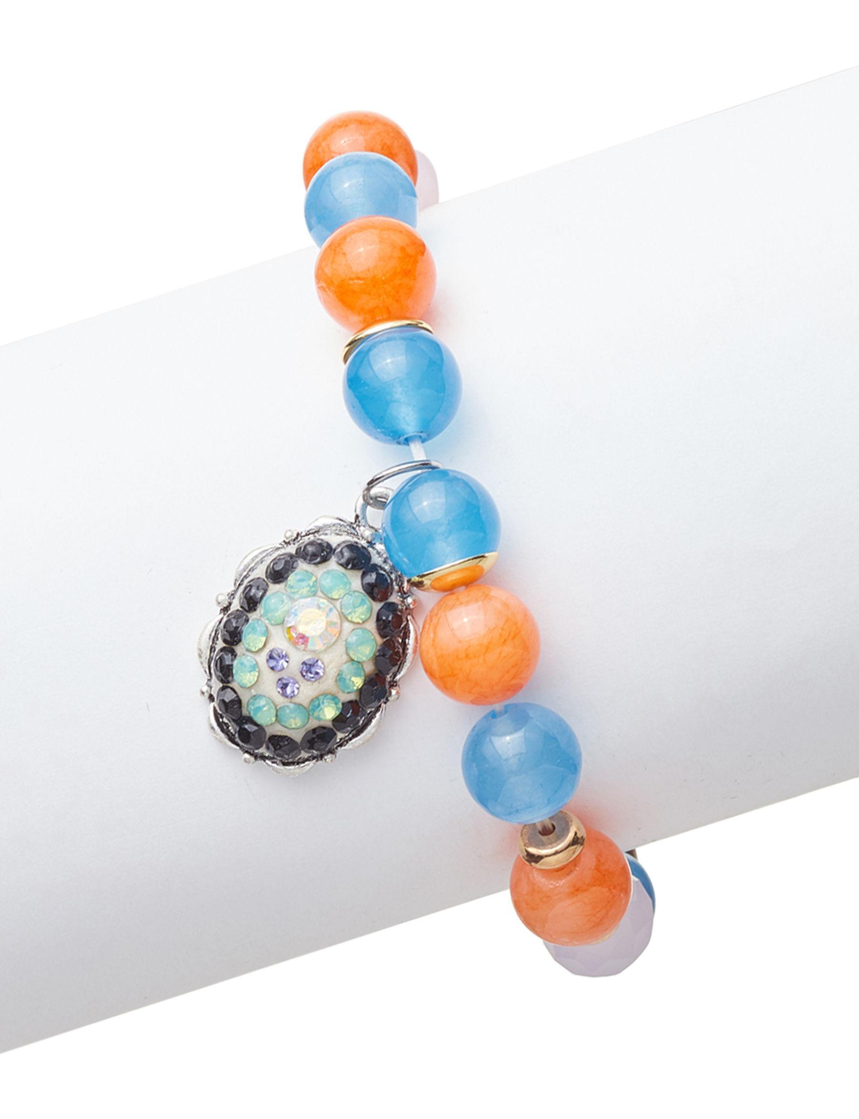 Marsala Blue / Orange Bracelets Fine Jewelry