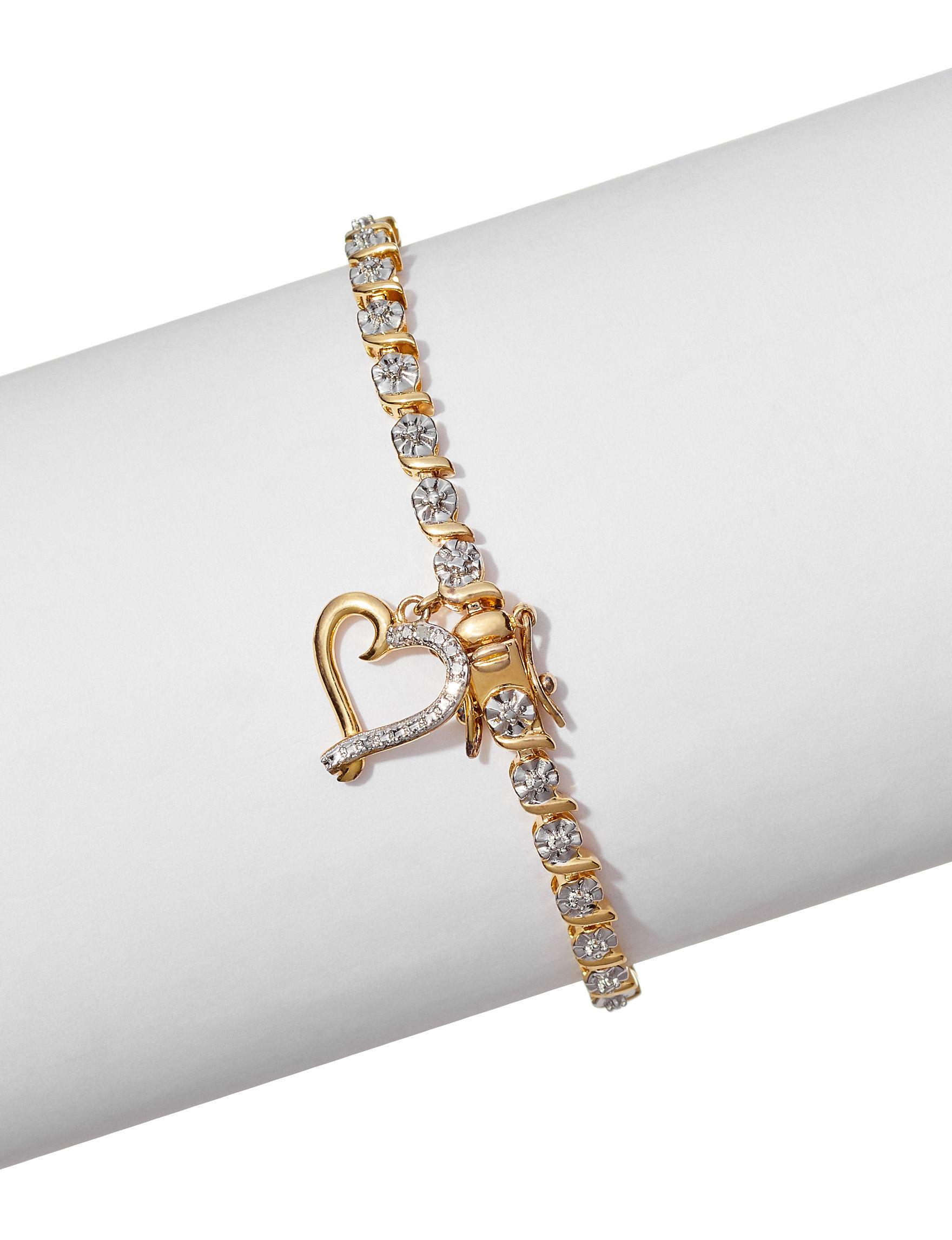 PAJ INC. Gold / Crystal Bracelets Fine Jewelry