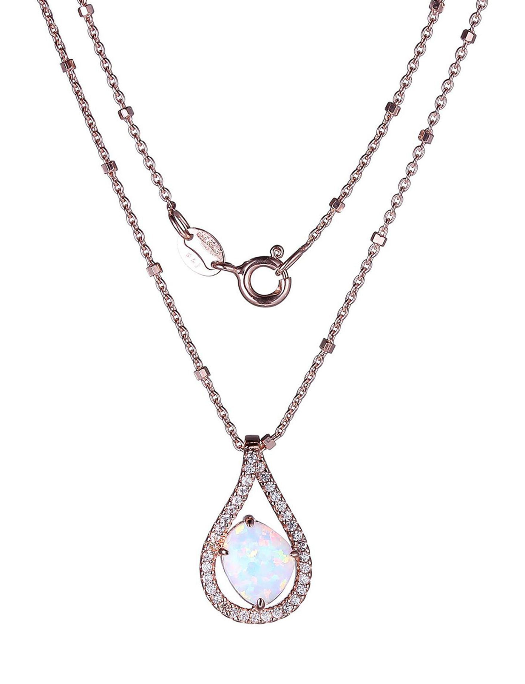 PAJ INC. Silver / Crystal Necklaces & Pendants Fine Jewelry