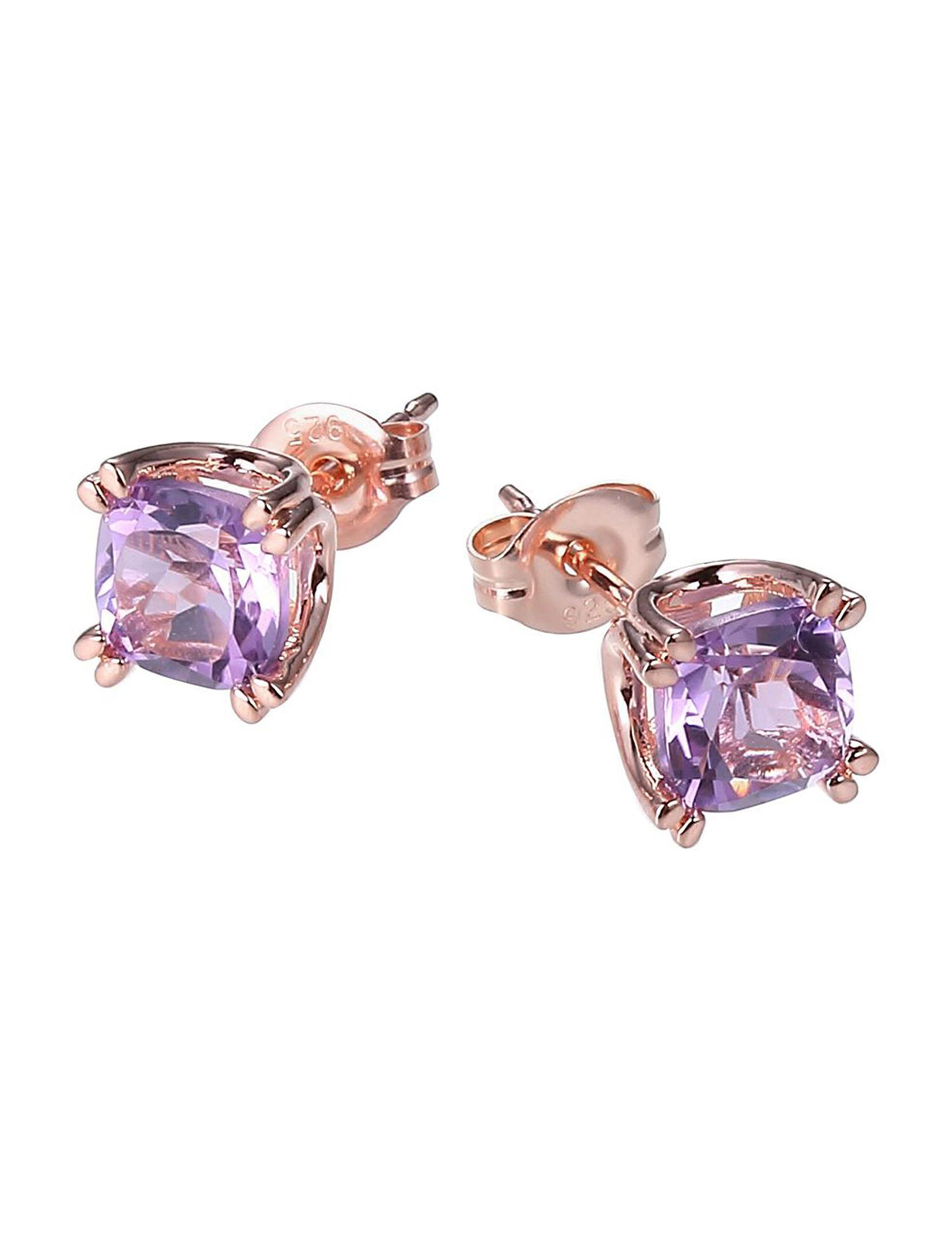 PAJ INC. Rose Gold / Gemstone Studs Earrings Fine Jewelry