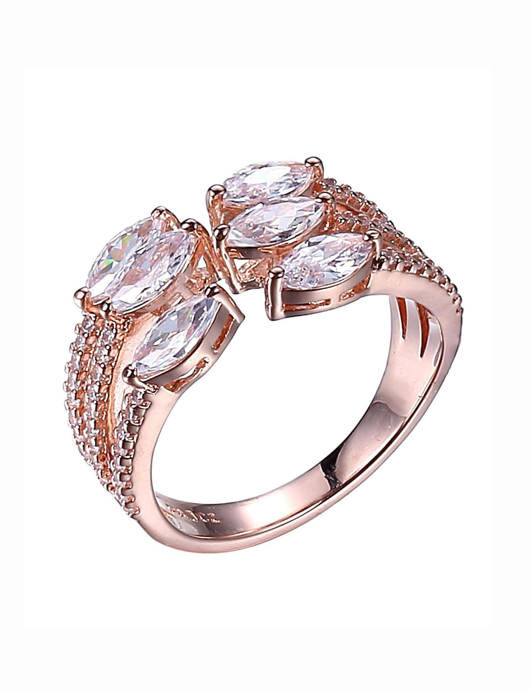 PAJ INC. Rose Gold / Crystal Rings Fine Jewelry