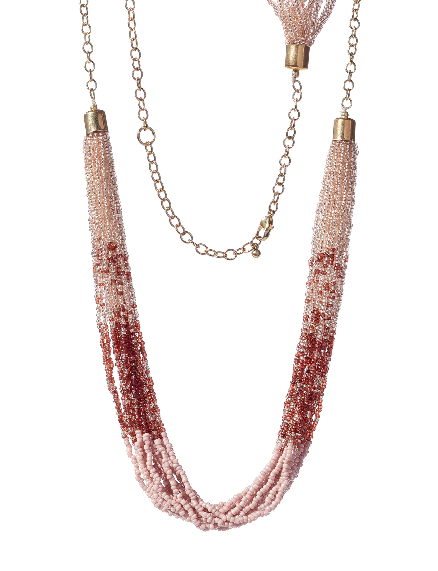 Hannah Pink / Brown Necklaces & Pendants Fashion Jewelry