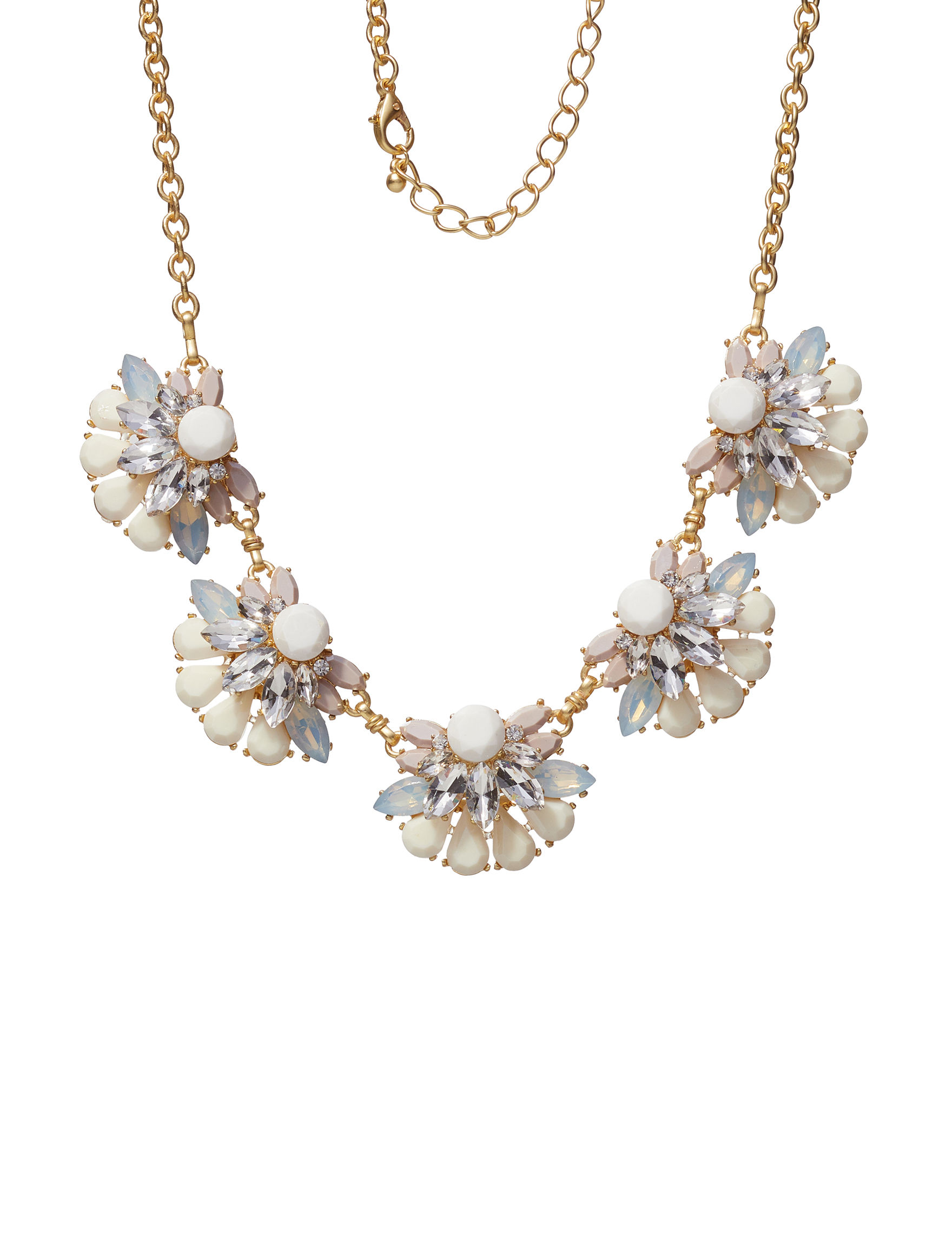 Hannah Pink / Gold Necklaces & Pendants Fashion Jewelry