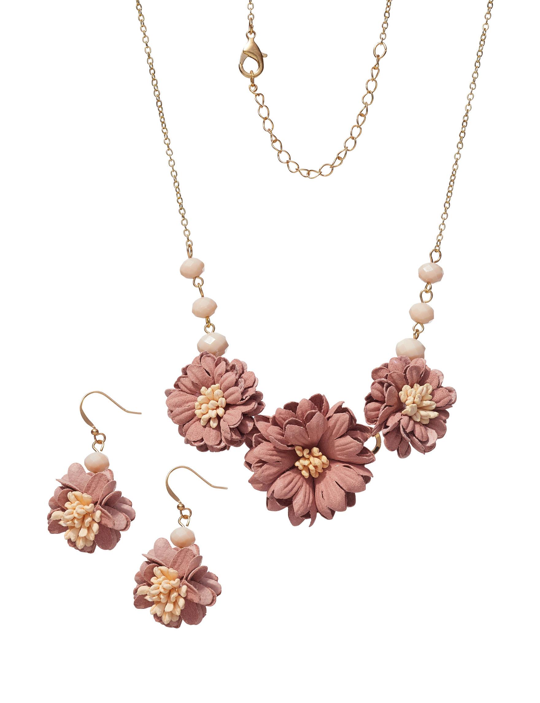 Hannah Light Orange Necklaces & Pendants Fashion Jewelry