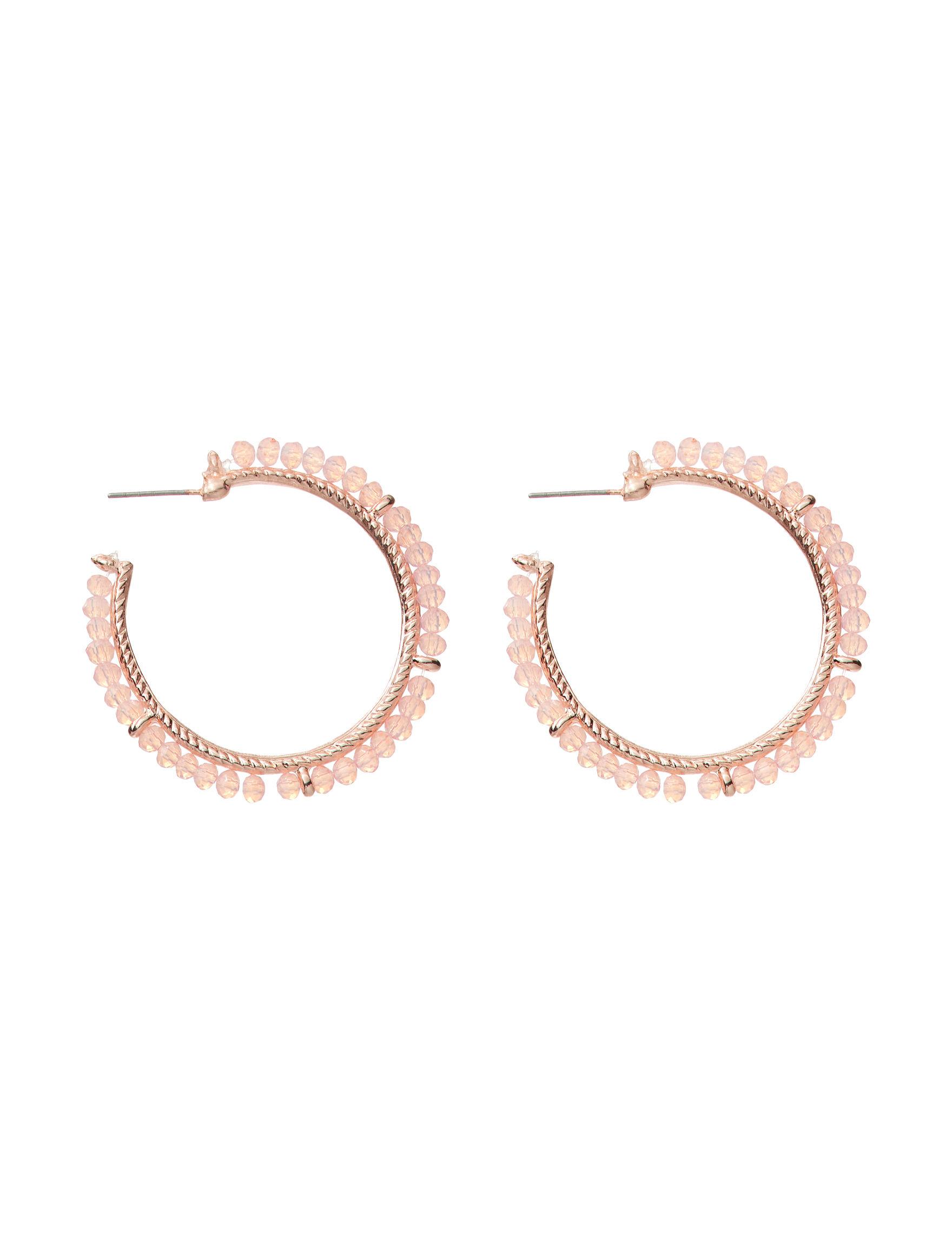 Hannah Pink Hoops Earrings Fashion Jewelry