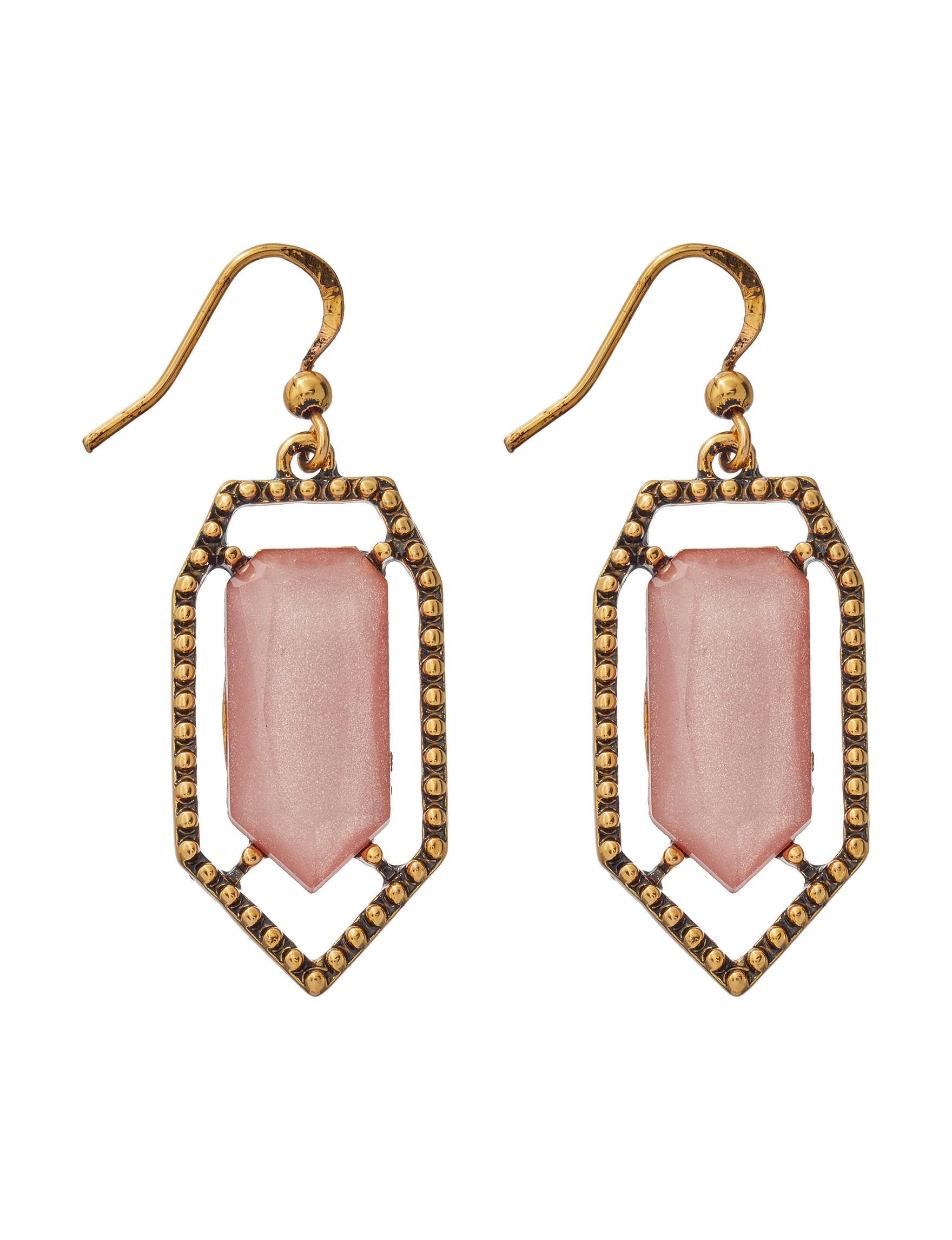 Hannah Pink Drops Earrings Fashion Jewelry