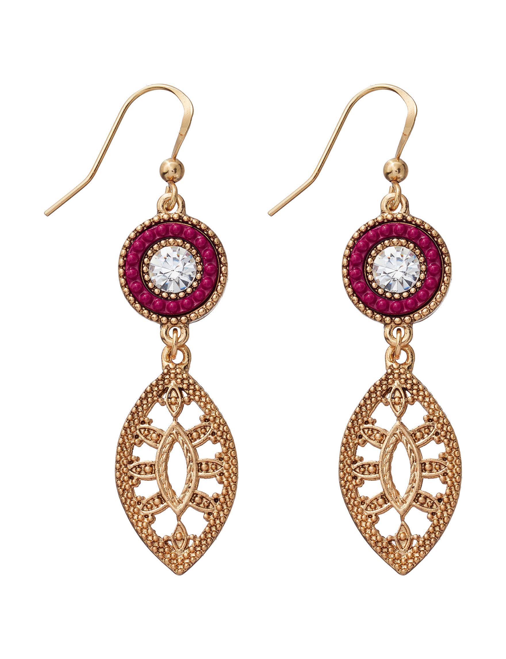 Hannah Marcasite Drops Earrings Fashion Jewelry