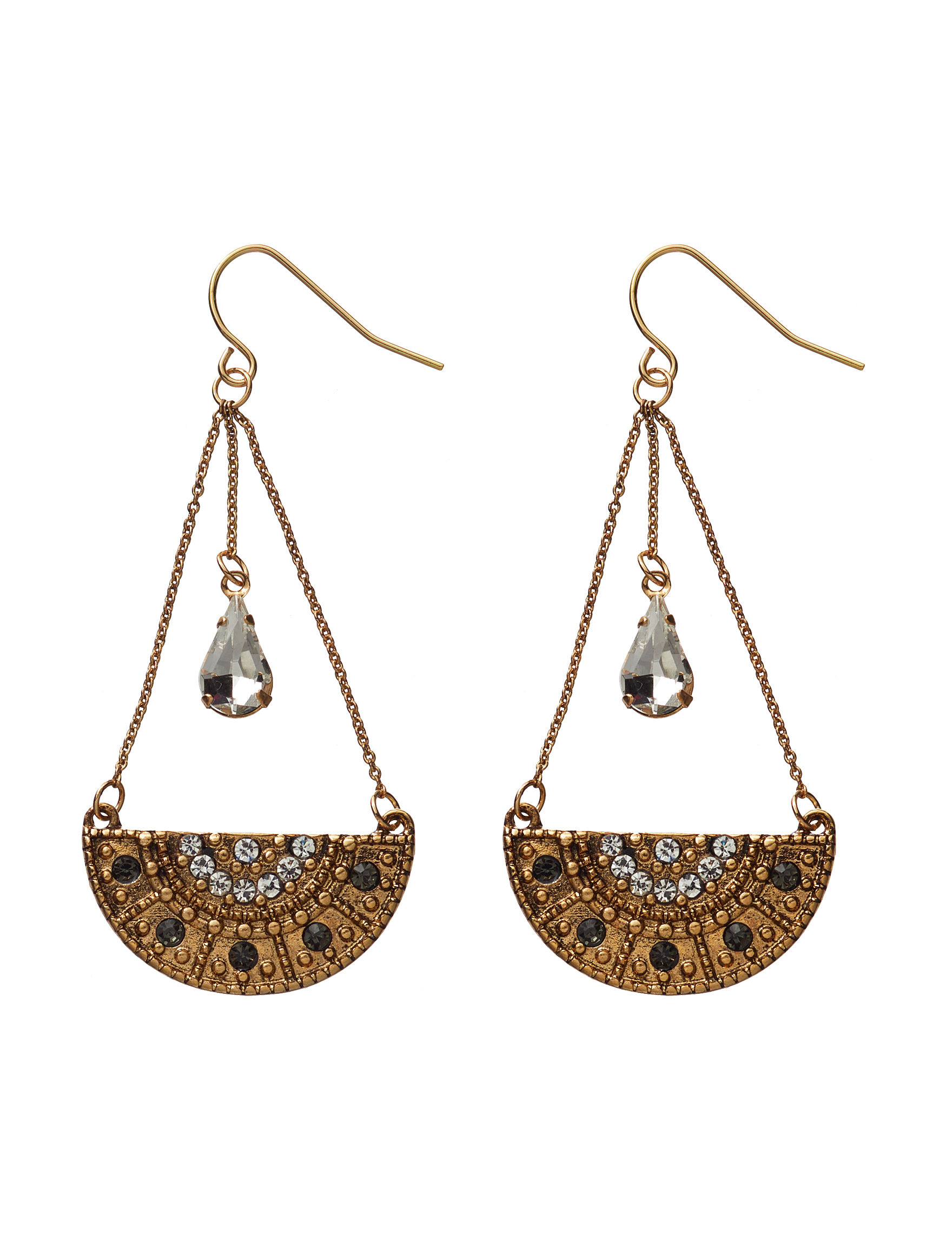 Hannah Gold / Crystal Drops Earrings Fashion Jewelry