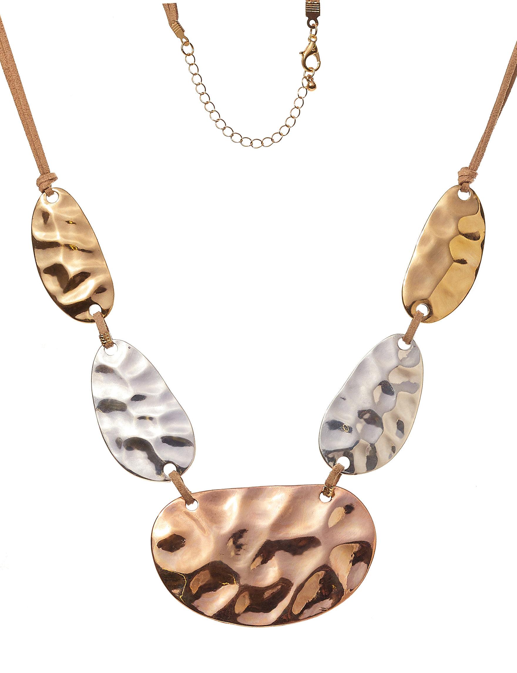 Hannah Tri Tone Necklaces & Pendants Fashion Jewelry