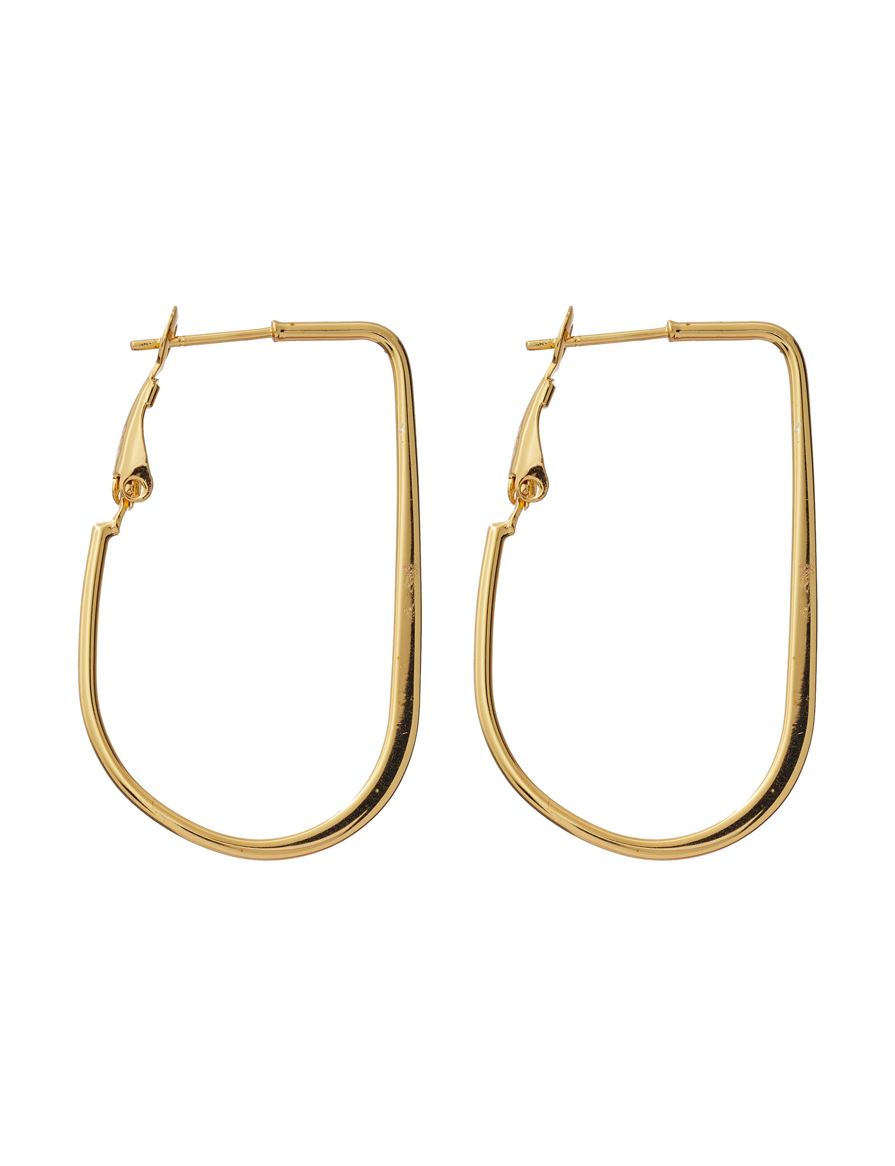 Danecraft Gold Hoops Earrings Fine Jewelry