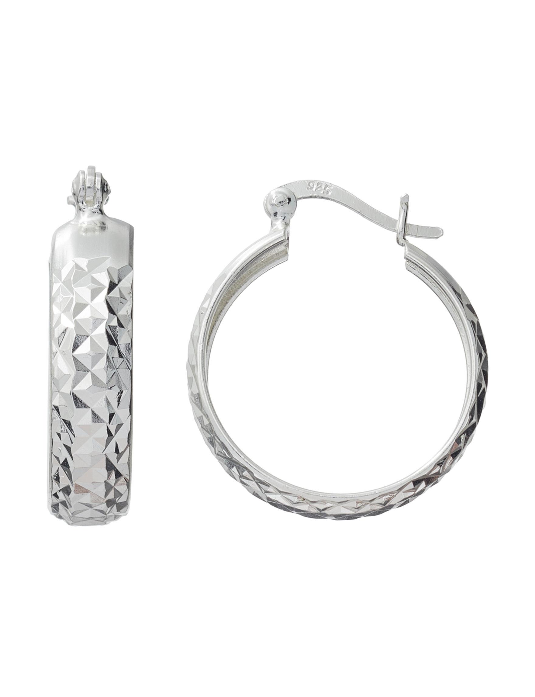 Danecraft Silver Hoops Earrings Fine Jewelry