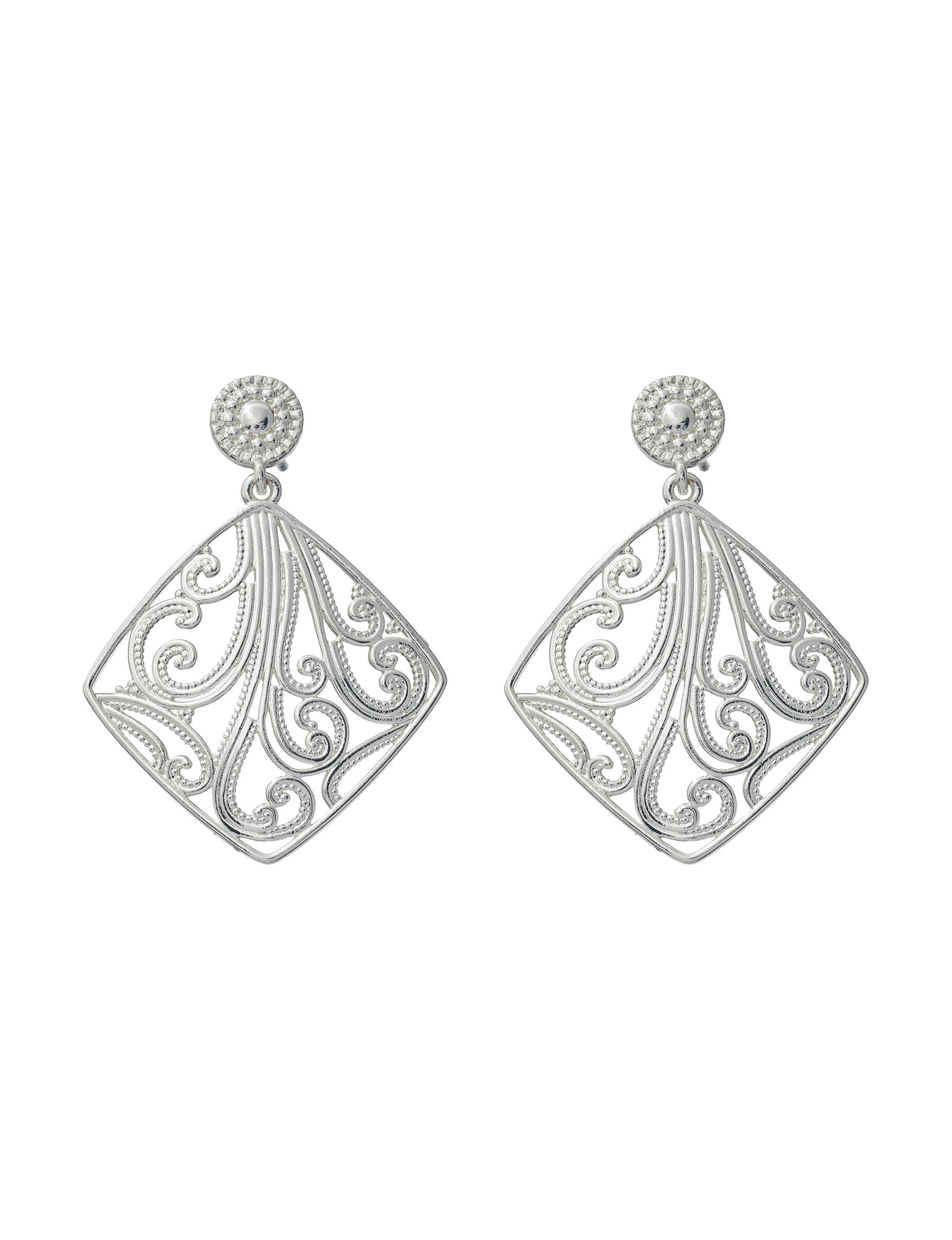 Danecraft Silver Drops Earrings Fine Jewelry