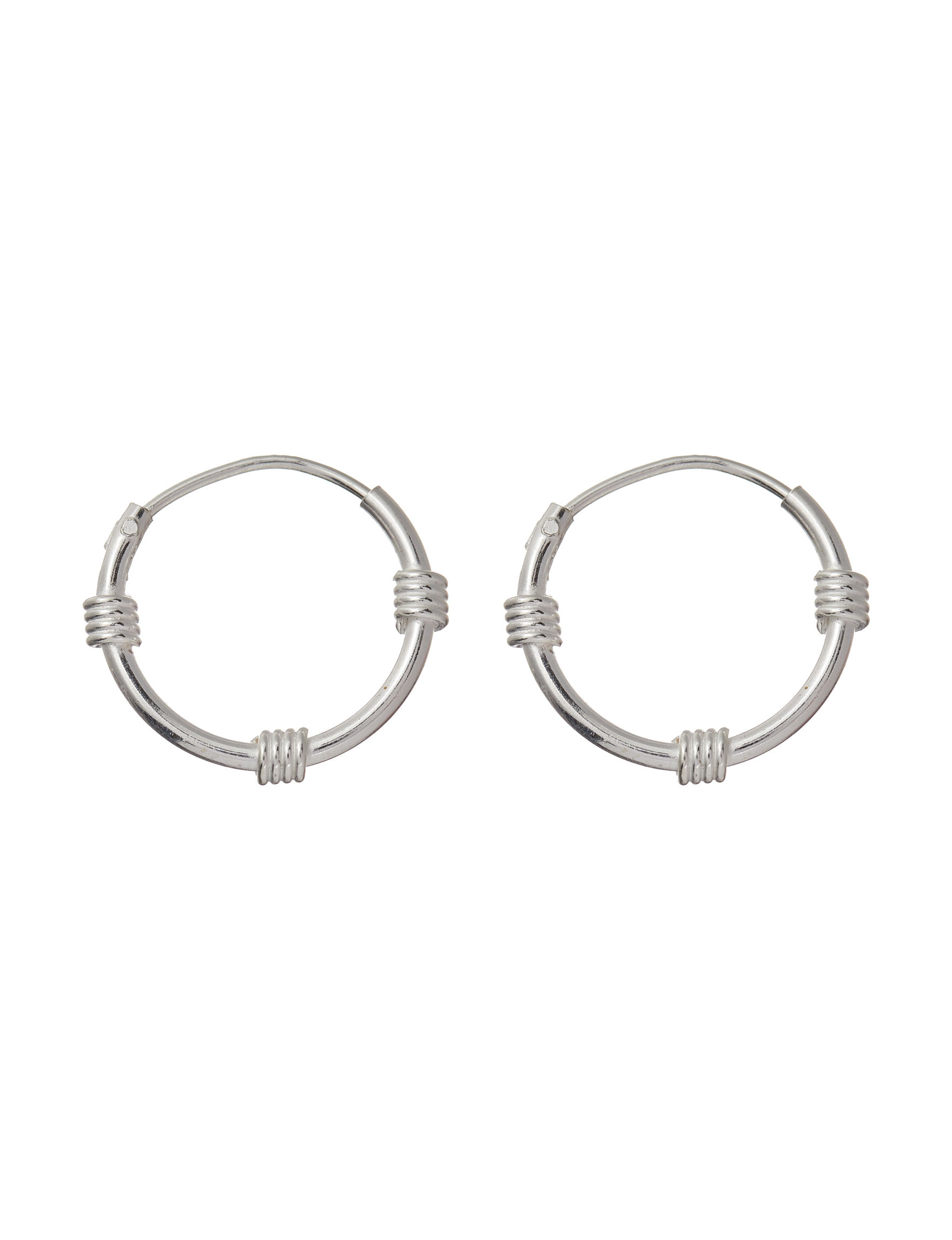 3749b12b3 Sterling Silver 14mm Bali Style Endless Hoop Earrings | Stage Stores