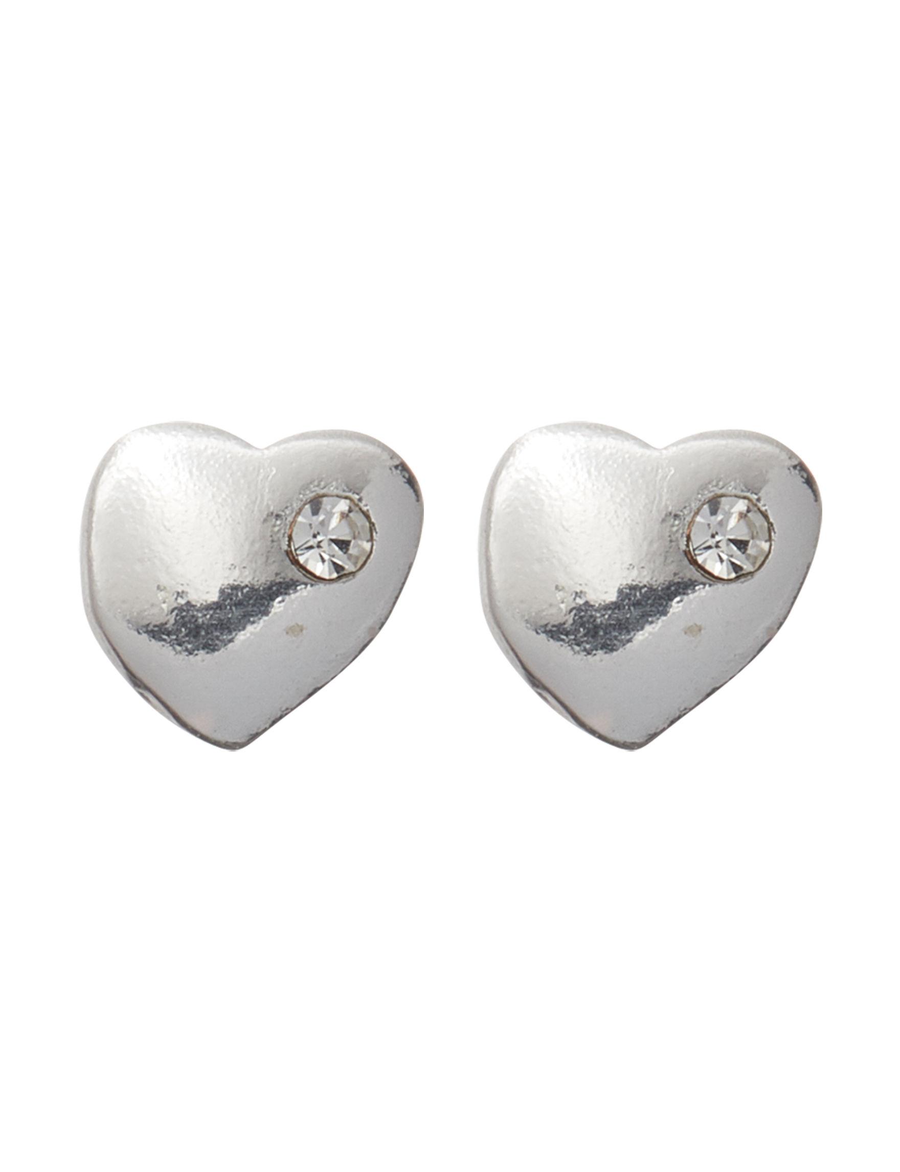 Marsala Sterling Silver Studs Earrings Fine Jewelry