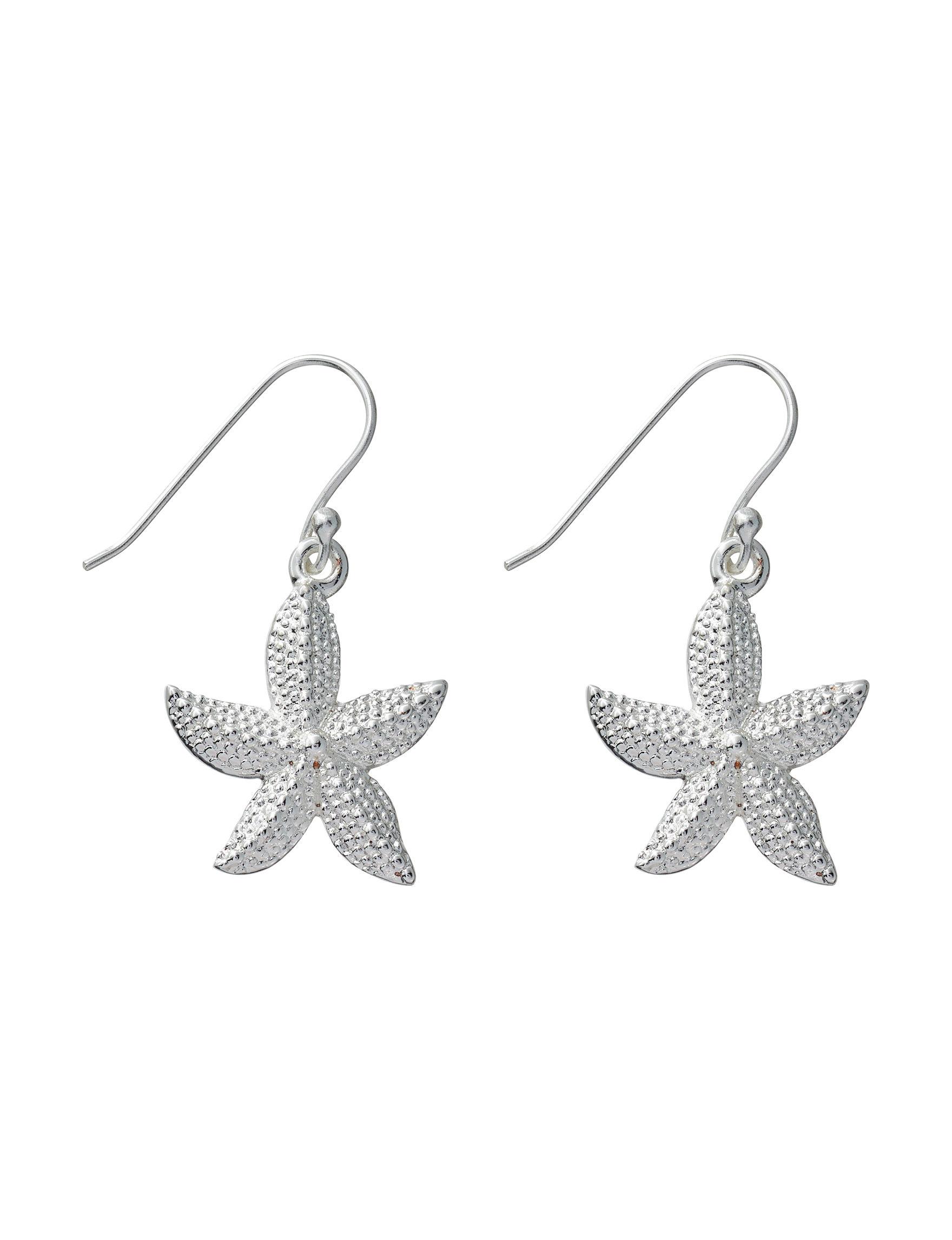 Danecraft Silver / Crystal Drops Earrings Fine Jewelry