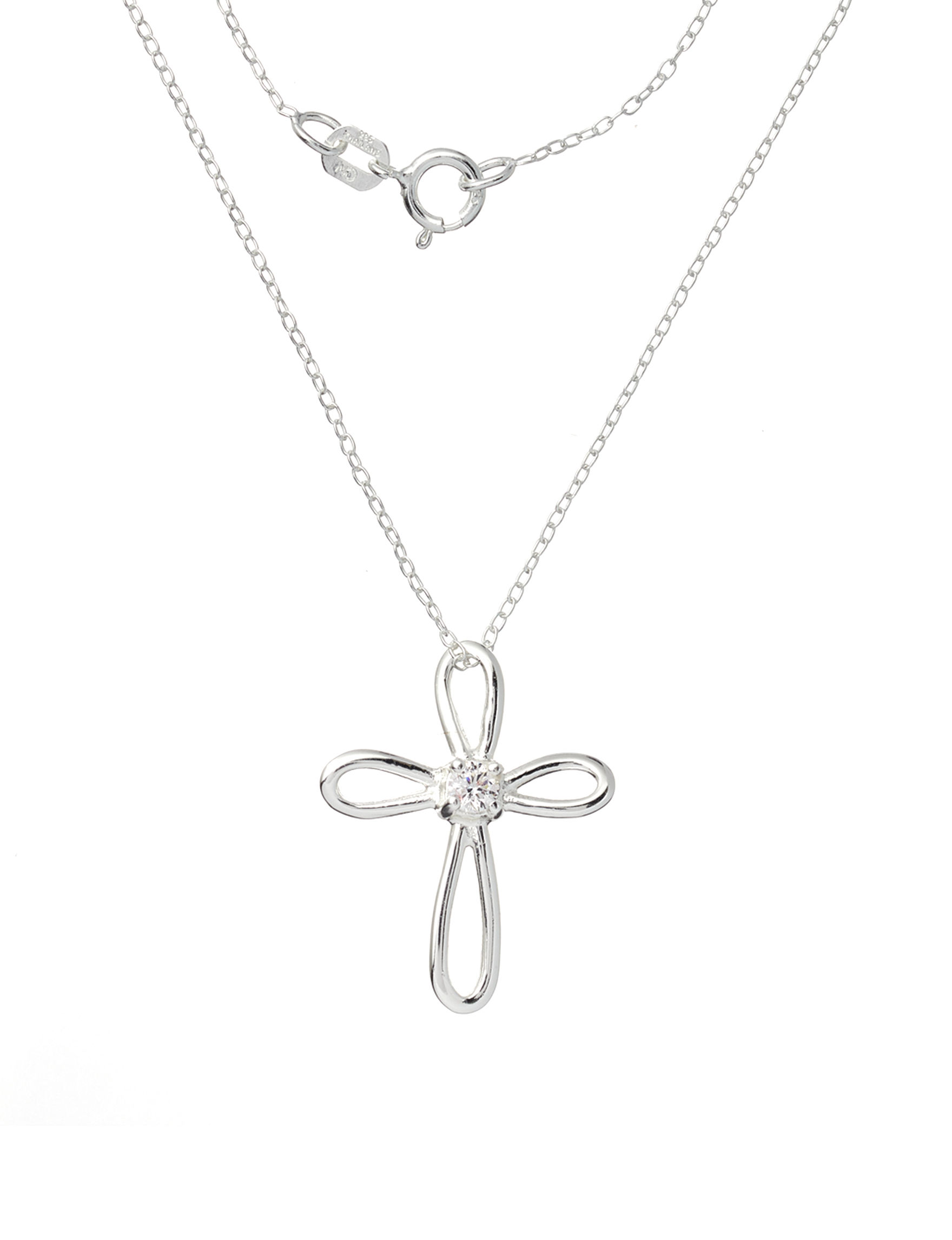 Marsala Silver / Crystal Necklaces & Pendants Fine Jewelry