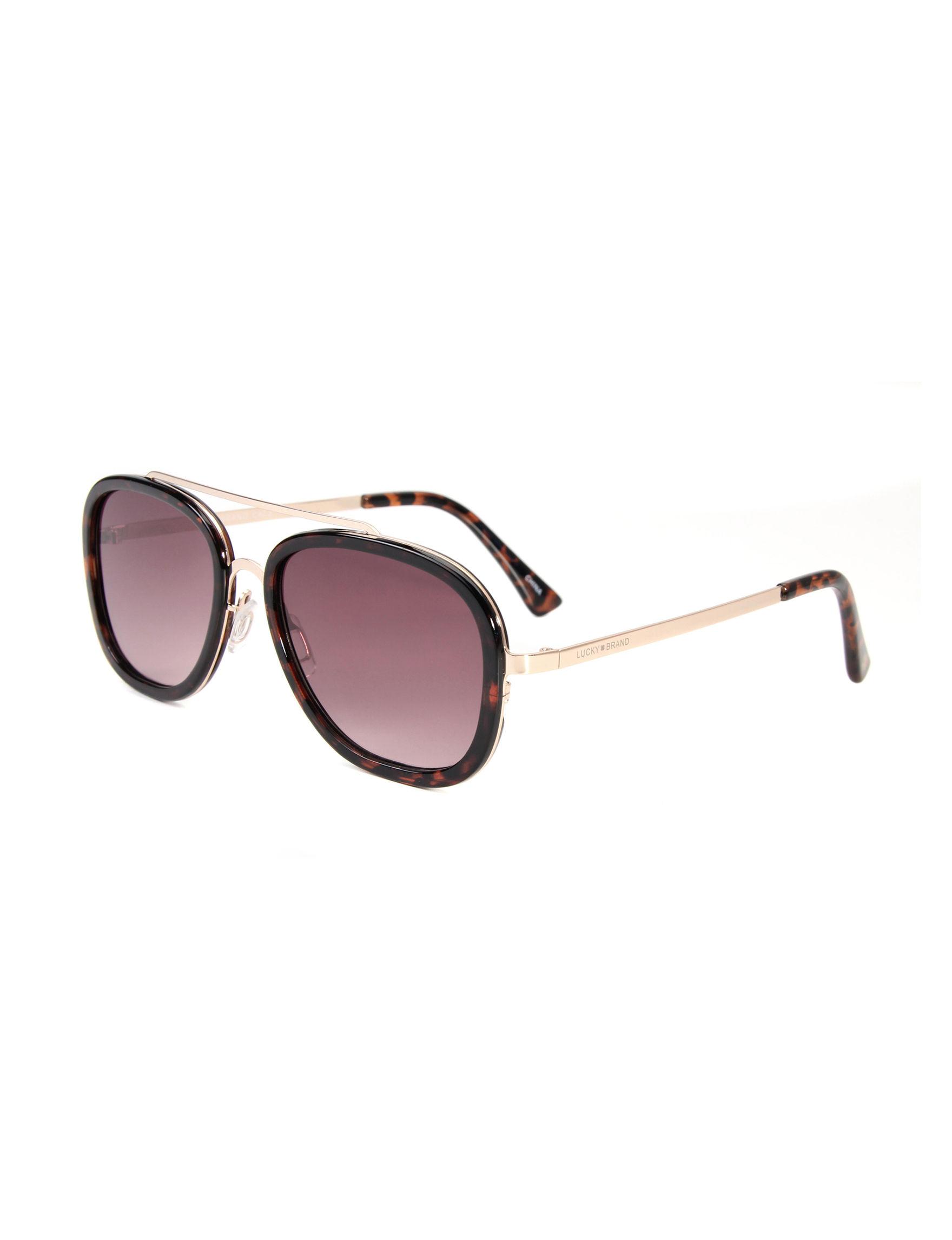 89e74ed1f470c Lucky Brand Faux Tortoise Shell Navigator Aviator Sunglasses