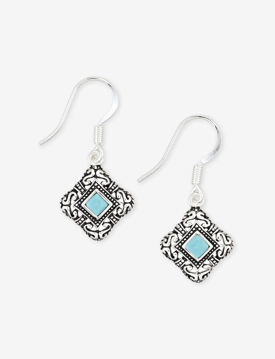 Marsala Turquoise Earrings Fine Jewelry