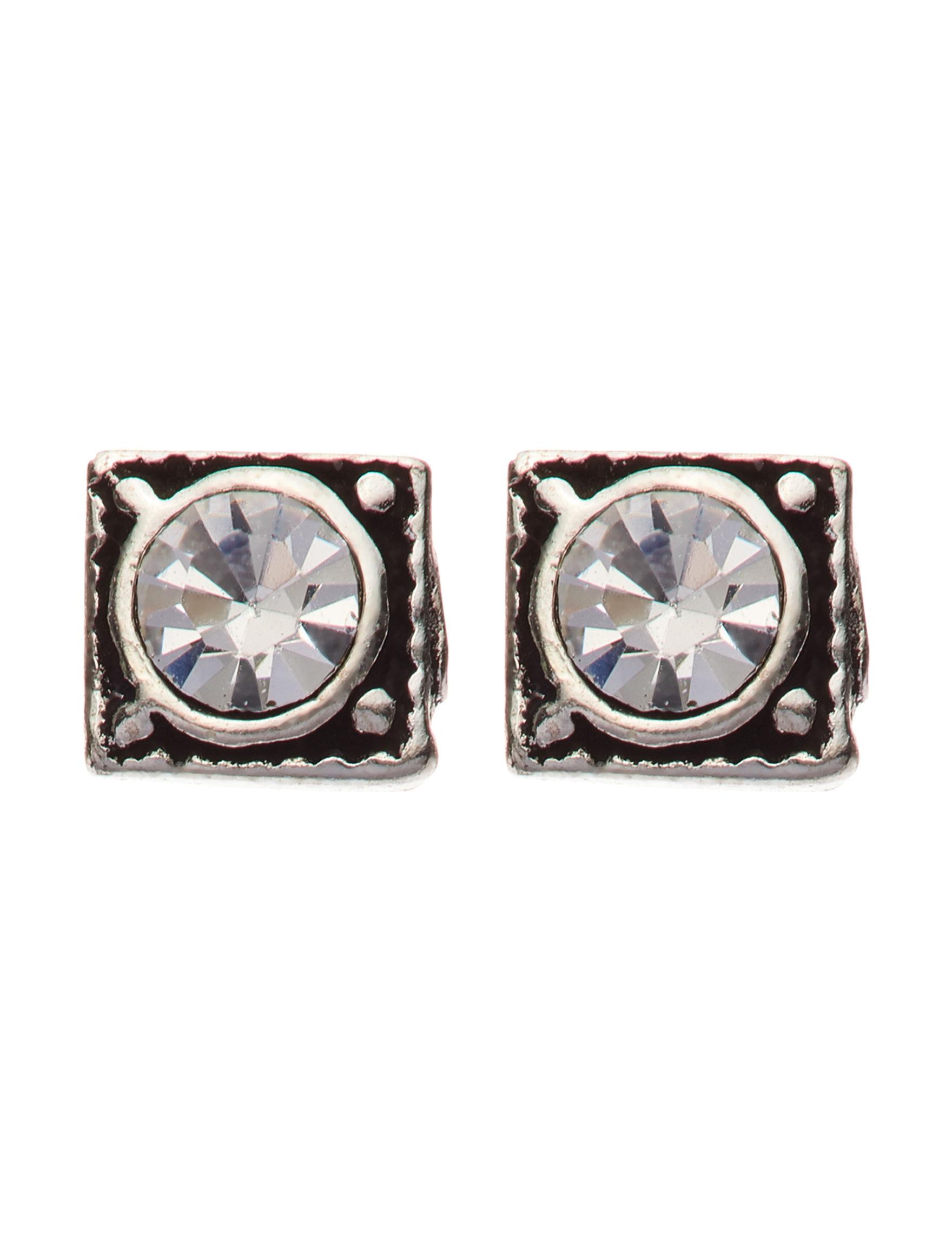Marsala Marcasite / Crystal Studs Earrings Fine Jewelry