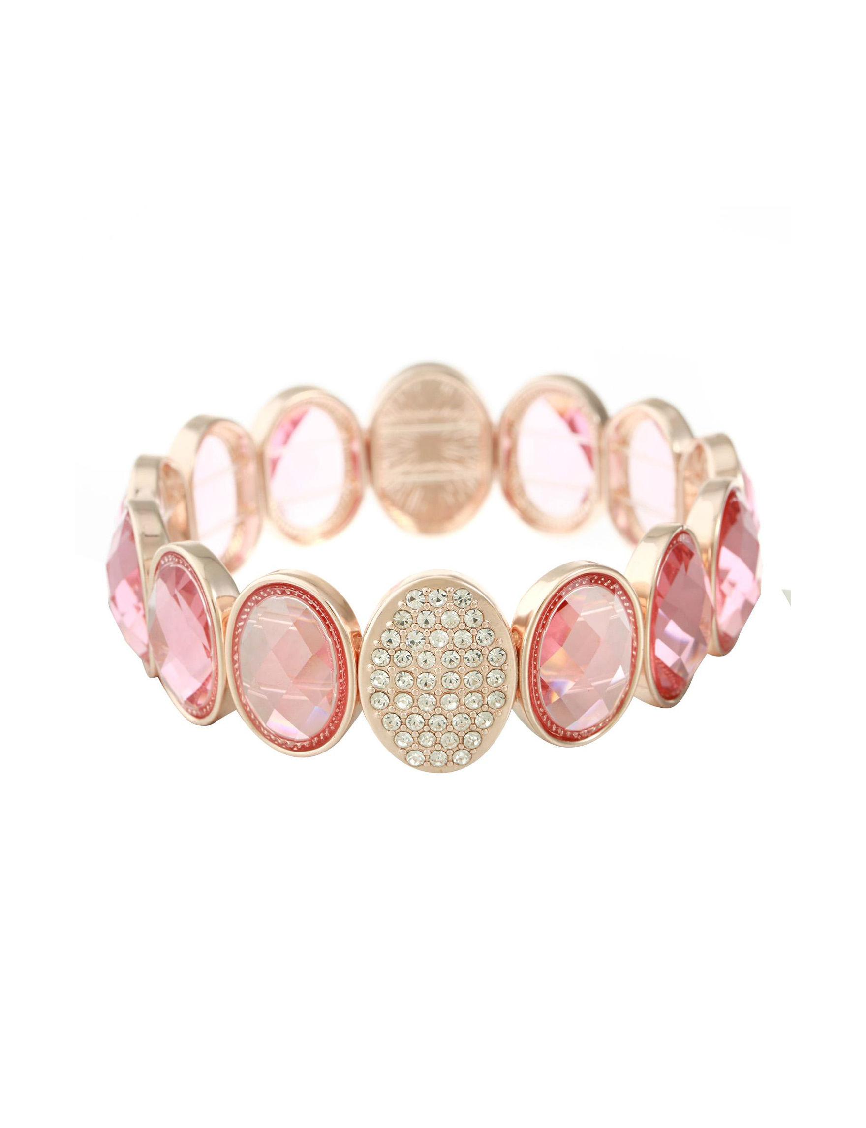 Gloria Vanderbilt Gold / Pink Bracelets Fashion Jewelry