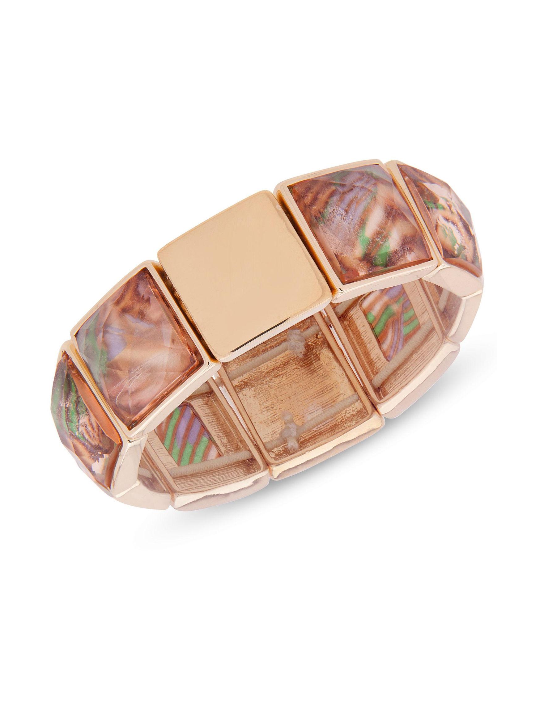 Gloria Vanderbilt Gold / Brown Bracelets Fashion Jewelry