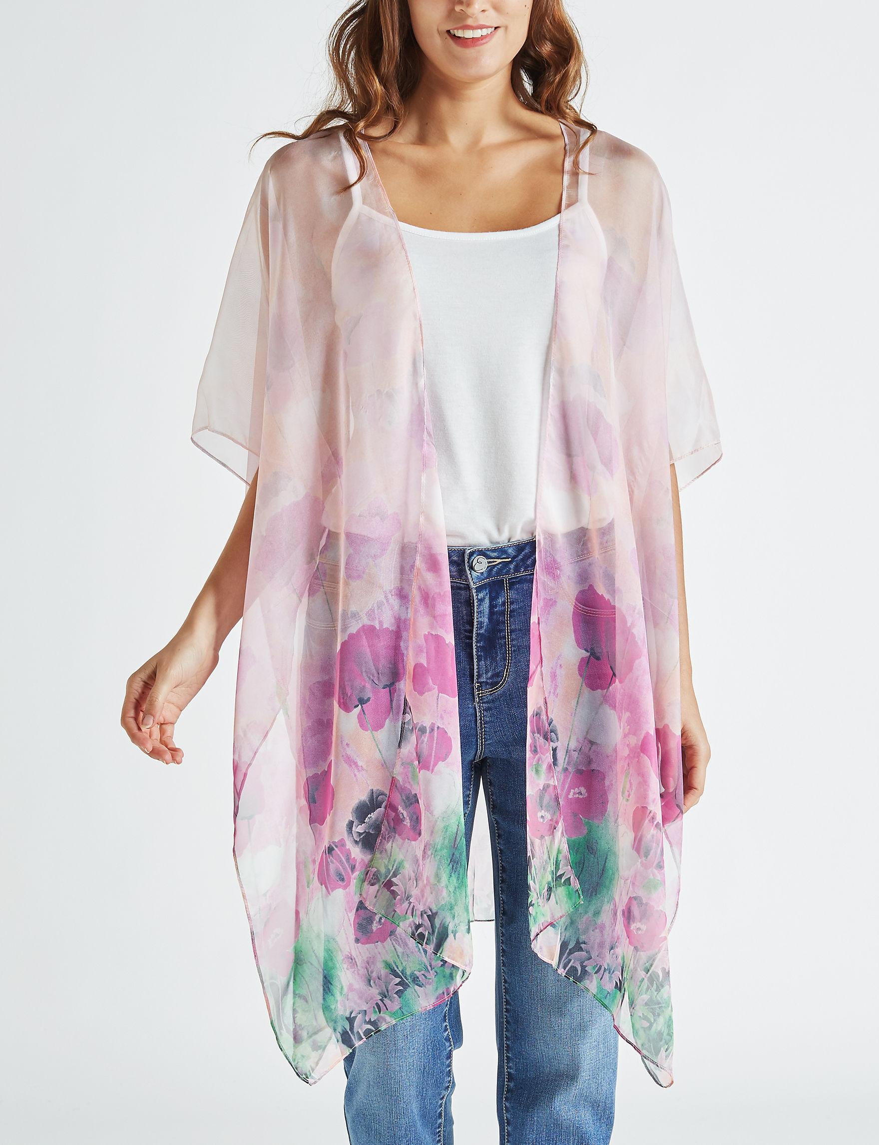 Cejon Blush Kimonos & Toppers Scarves & Wraps Ruanas