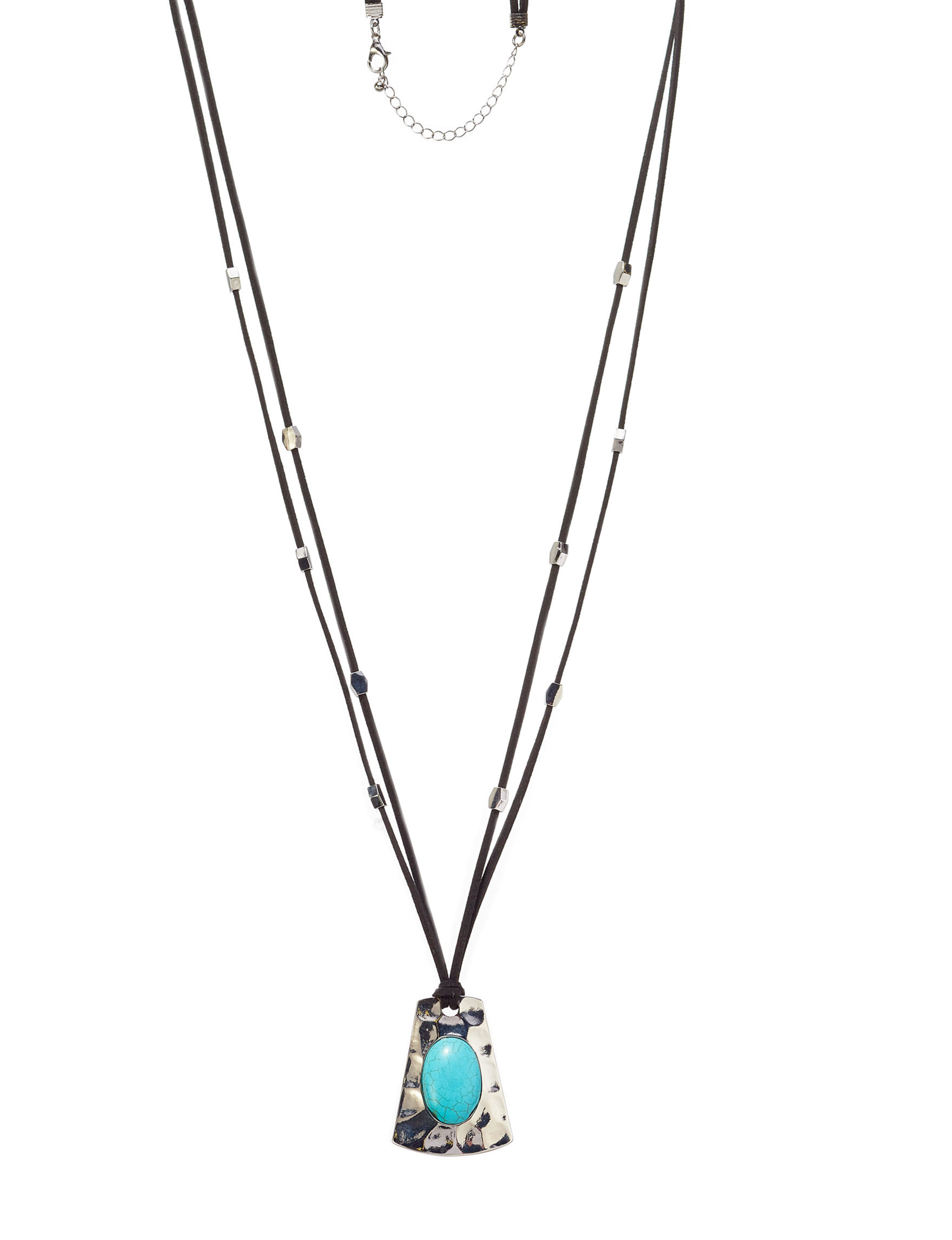 Hannah Black / Silver  / Turquoise Necklaces & Pendants Fashion Jewelry