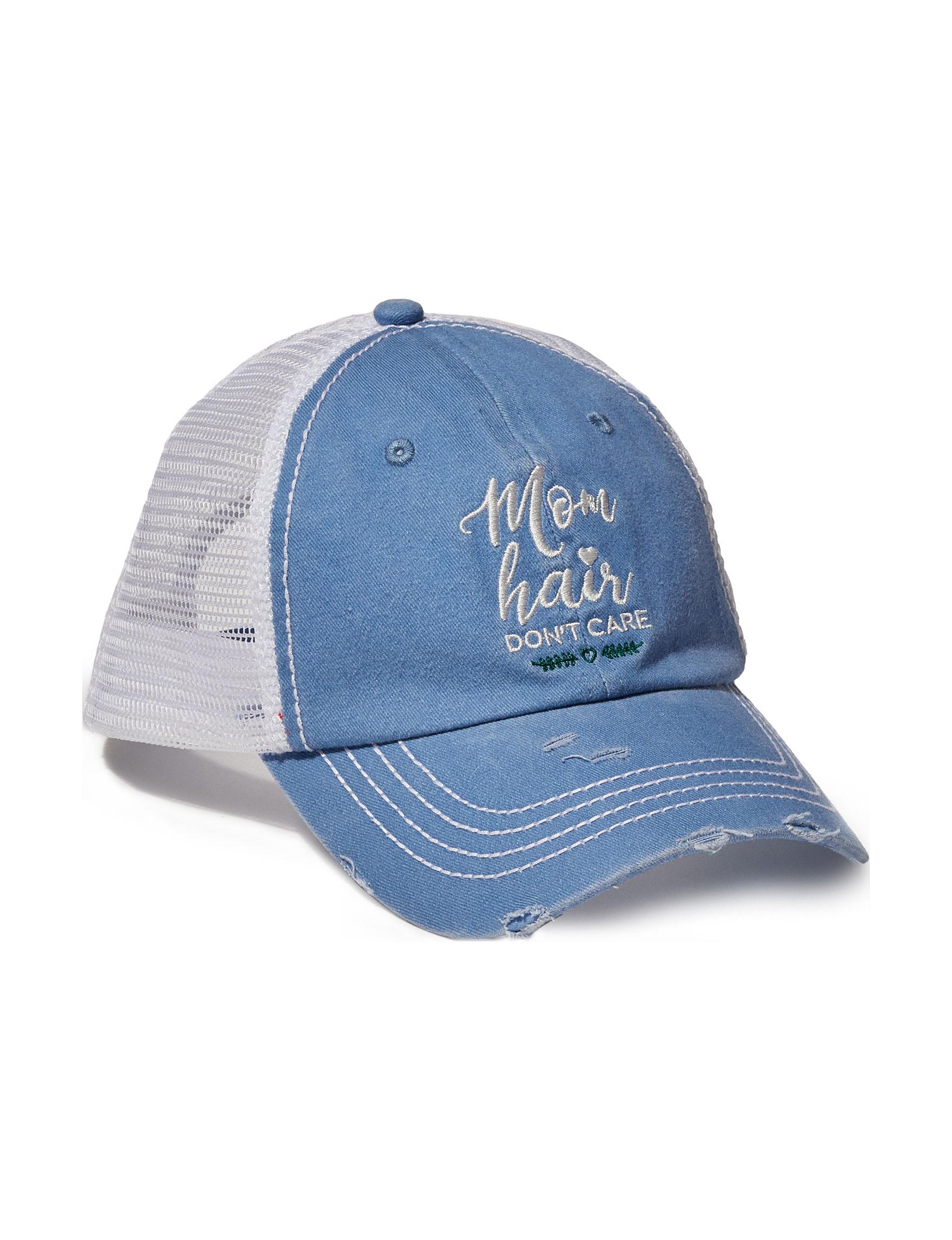 David & Young Blue / White Hats & Headwear