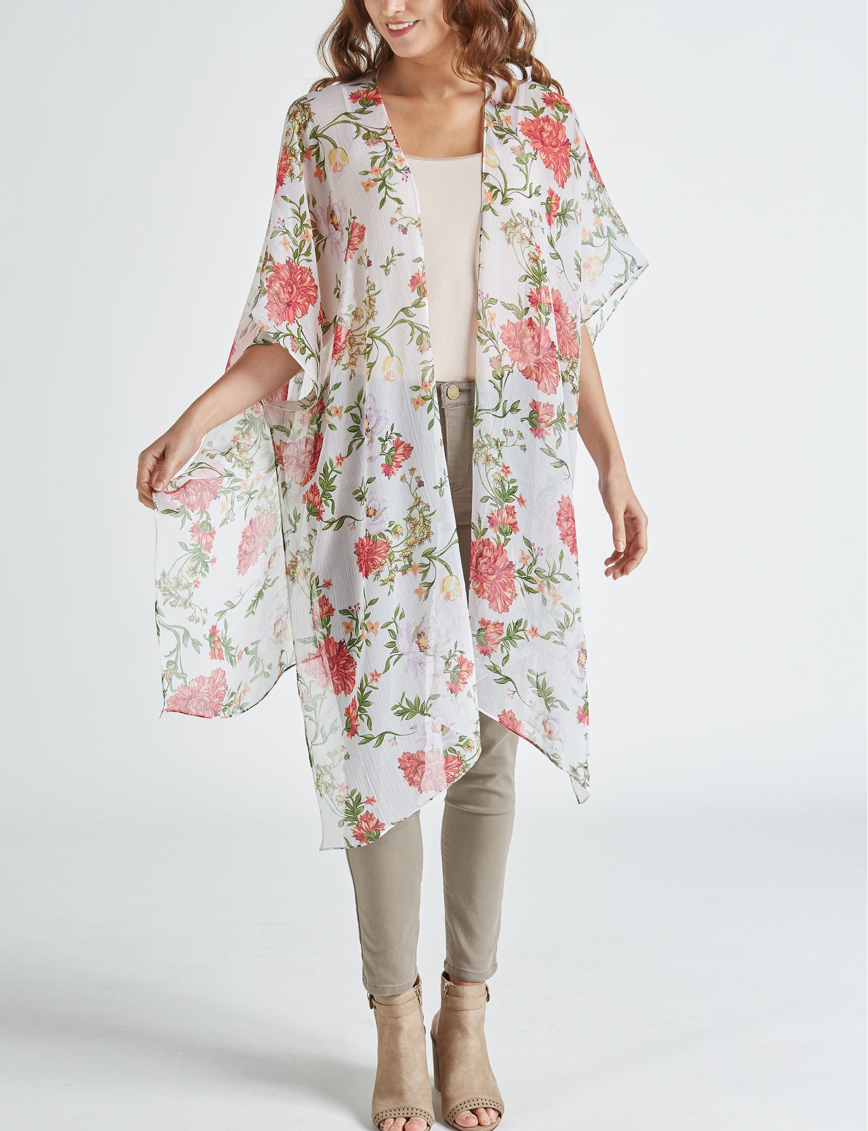 Cejon White / Pink Kimonos & Toppers