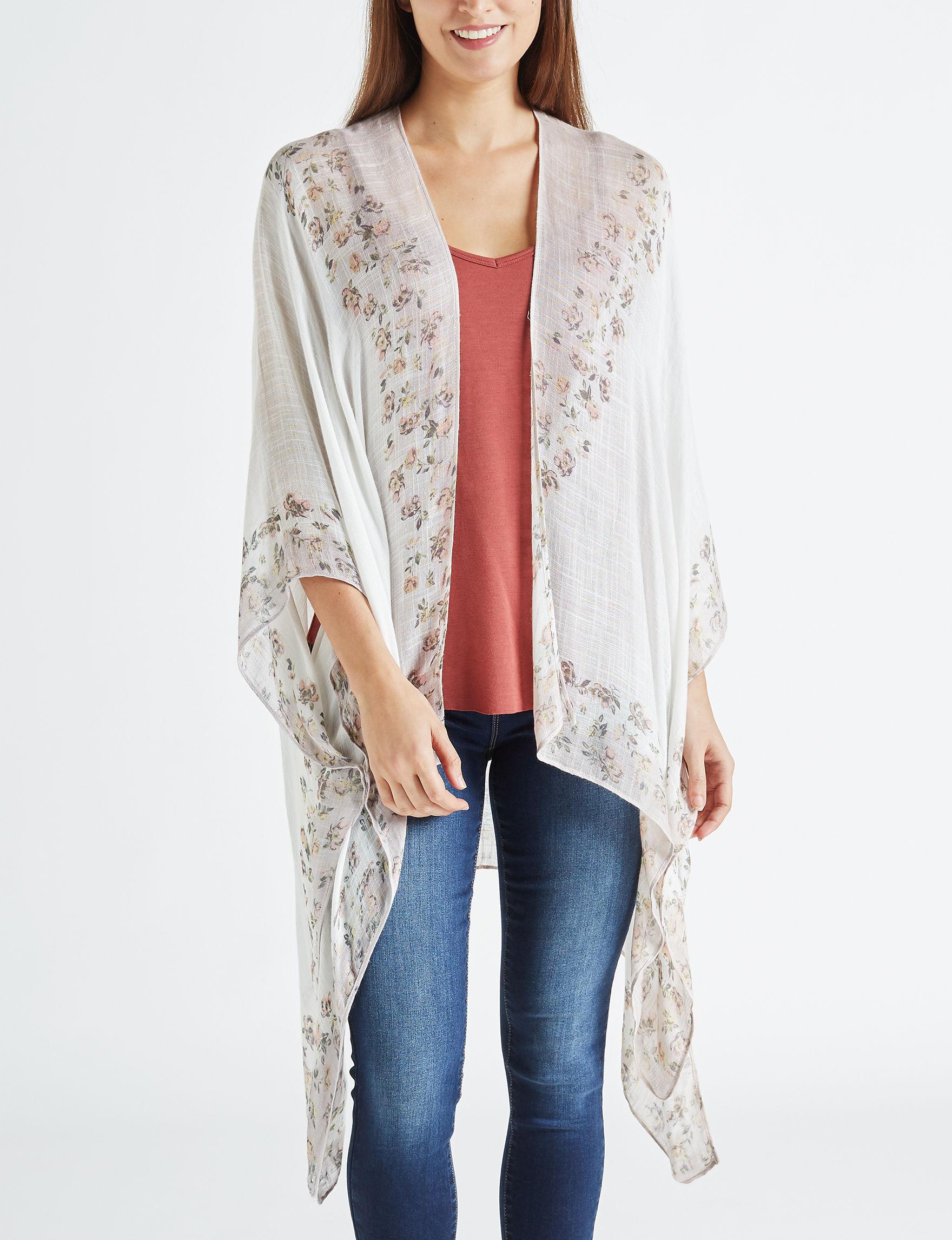 Lake Shore Drive Cream/Multi Kimonos & Toppers